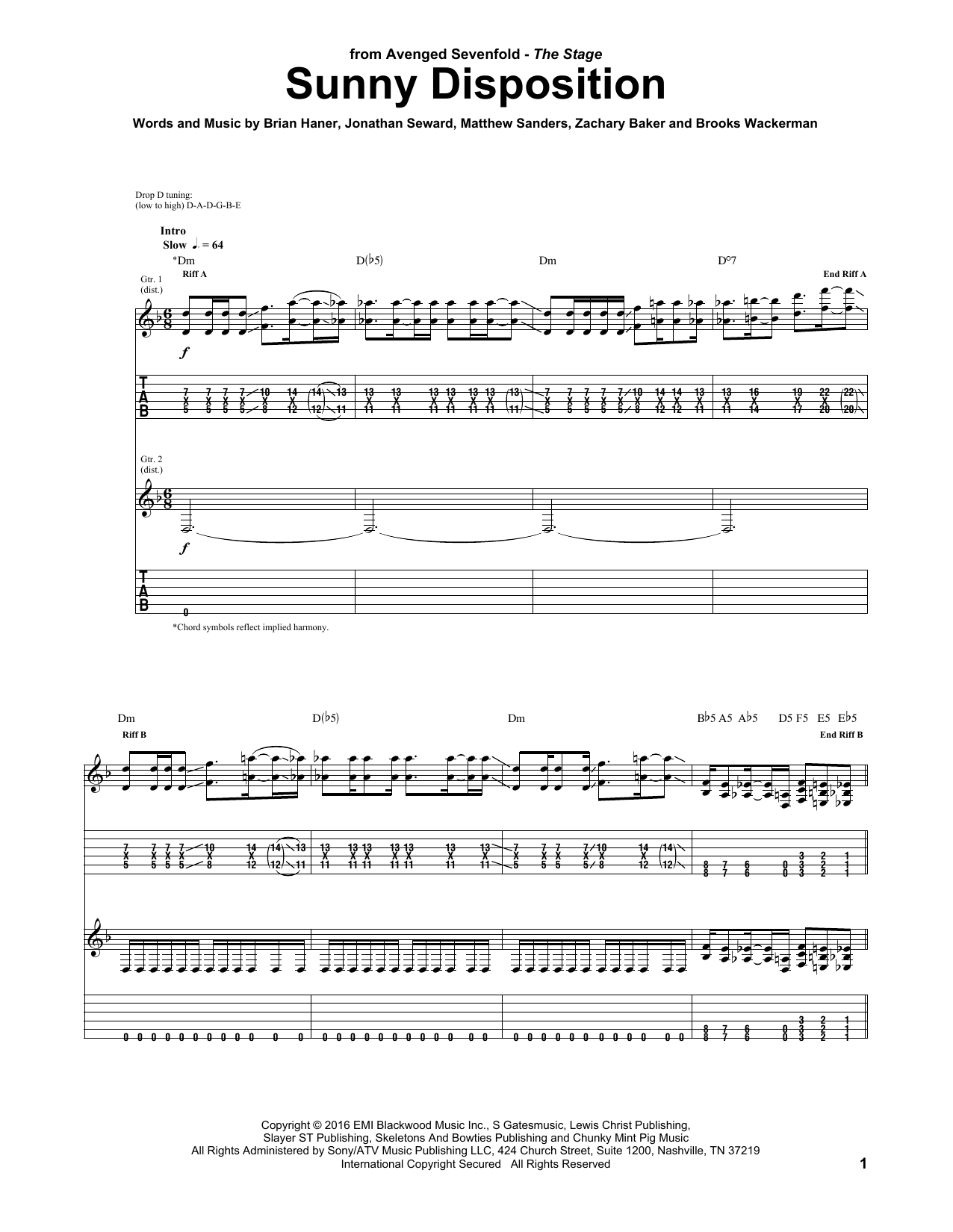 Sunny Disposition (Guitar Tab)