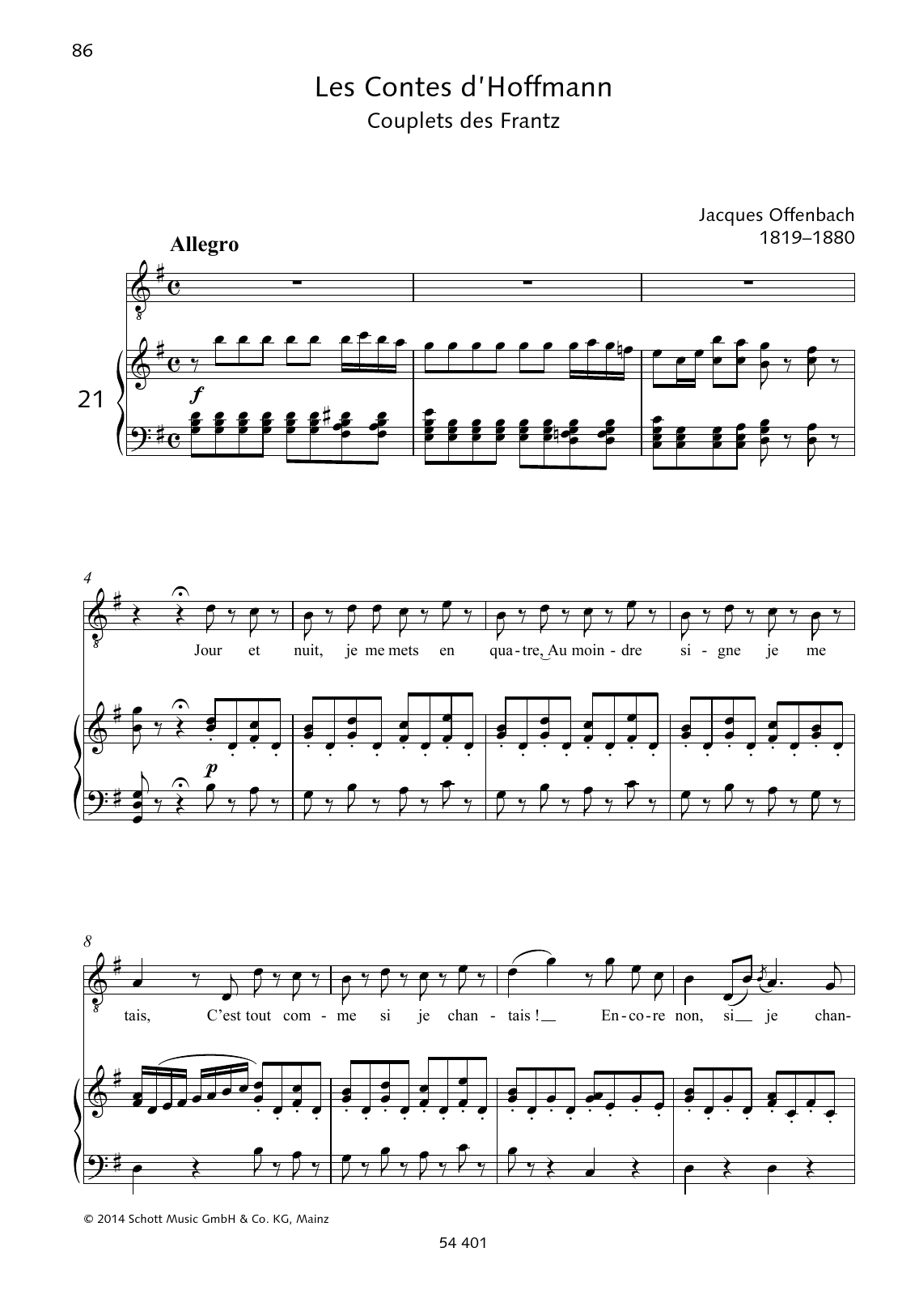Jour et nuit Sheet Music