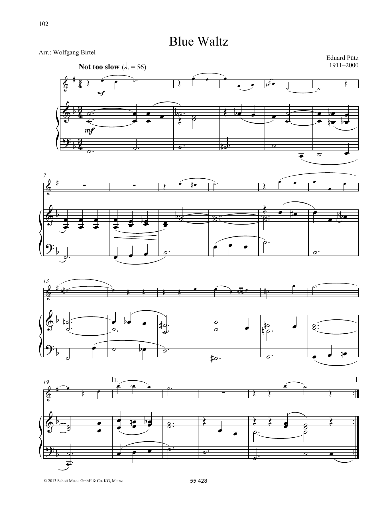 Blue Waltz Sheet Music