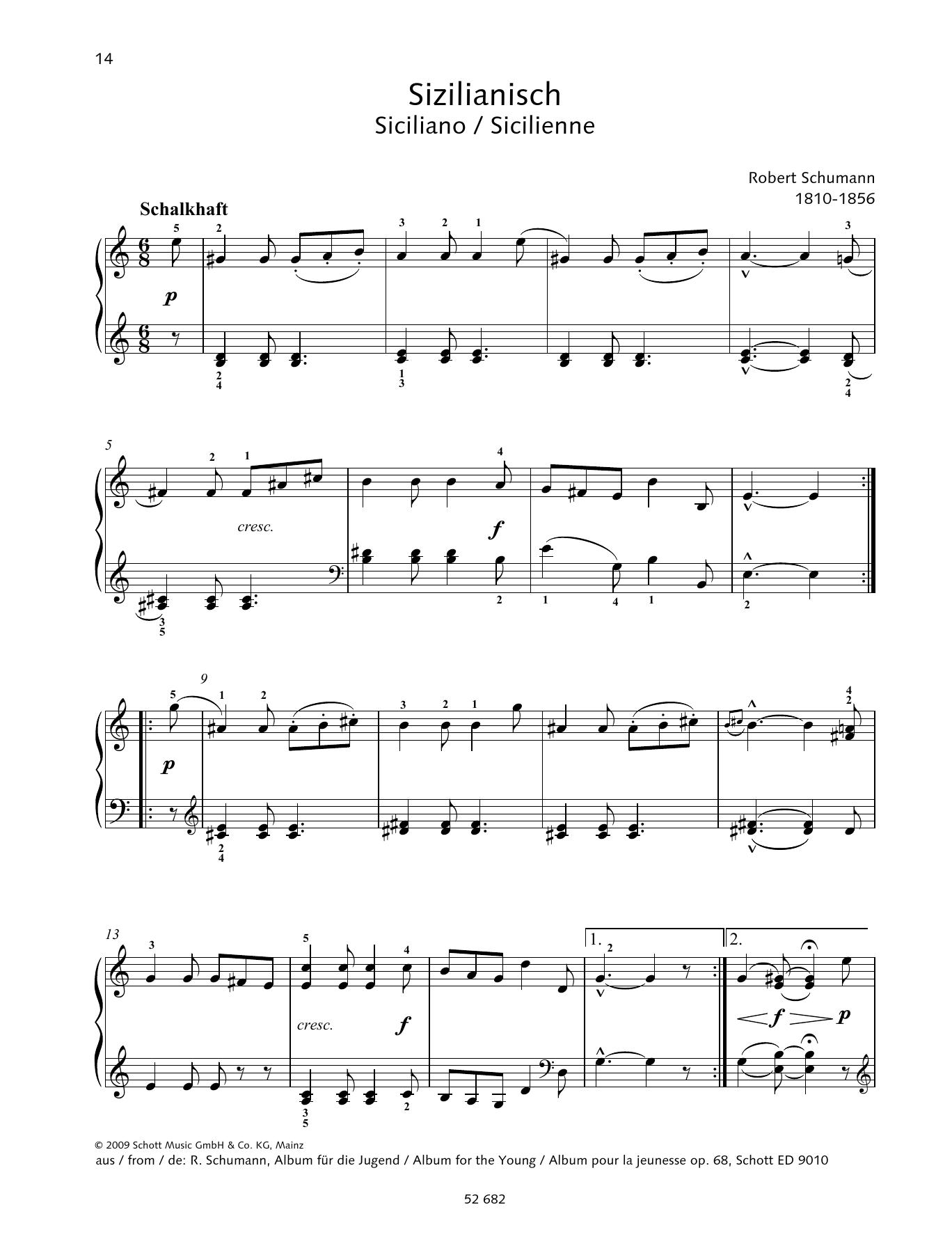 Siciliano Sheet Music