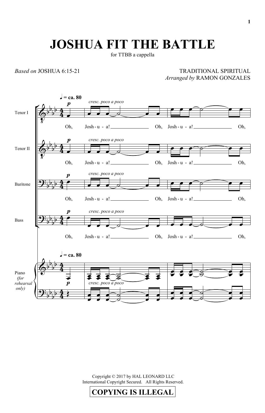 Joshua Fit The Battle (TTBB Choir)