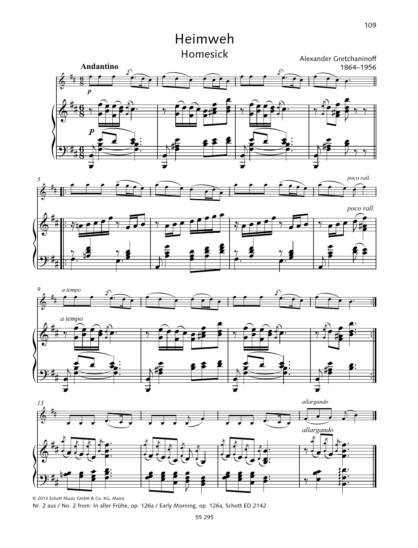 Early Morning Sheet Music