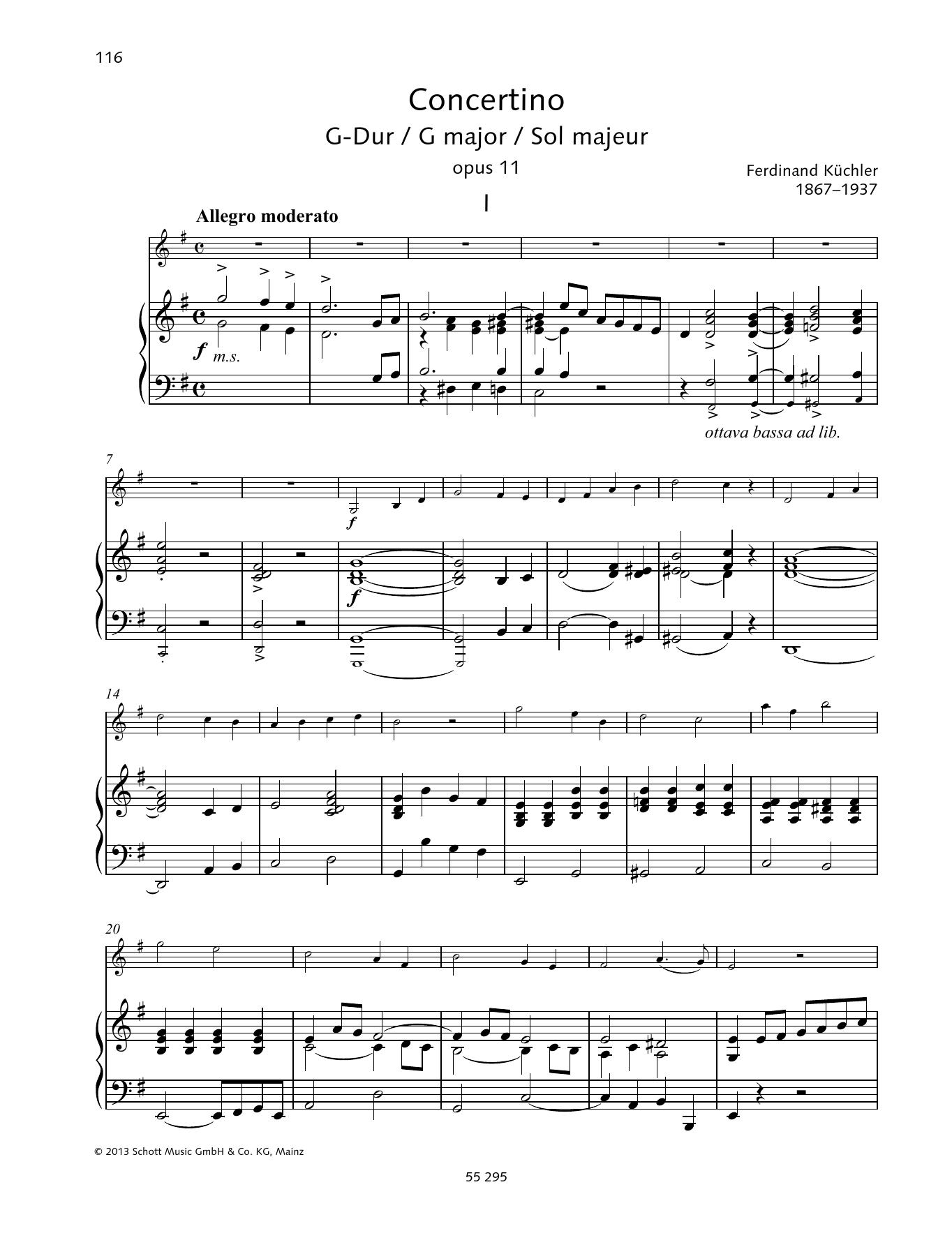 Concertino G major Sheet Music
