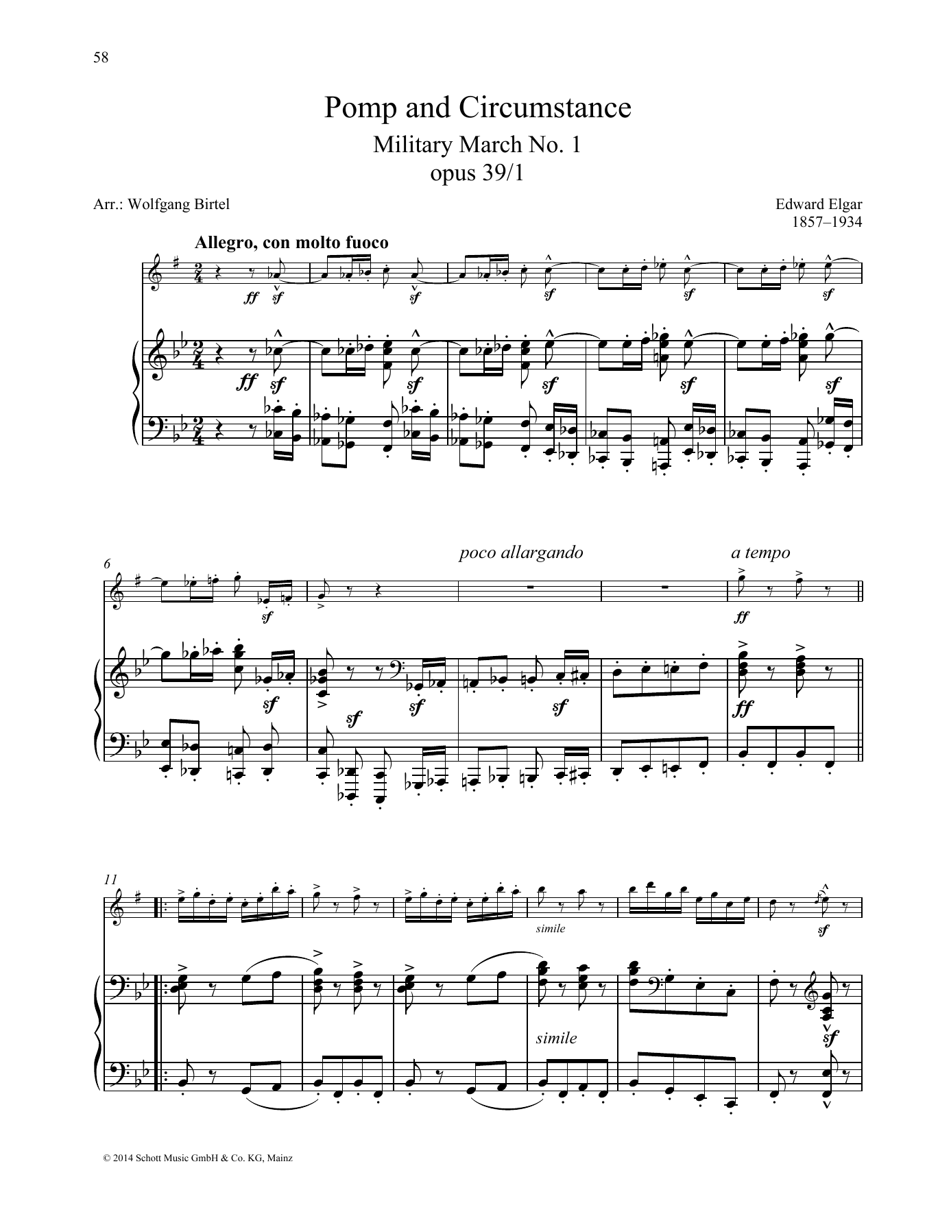 Pomp And Circumstance Sheet Music
