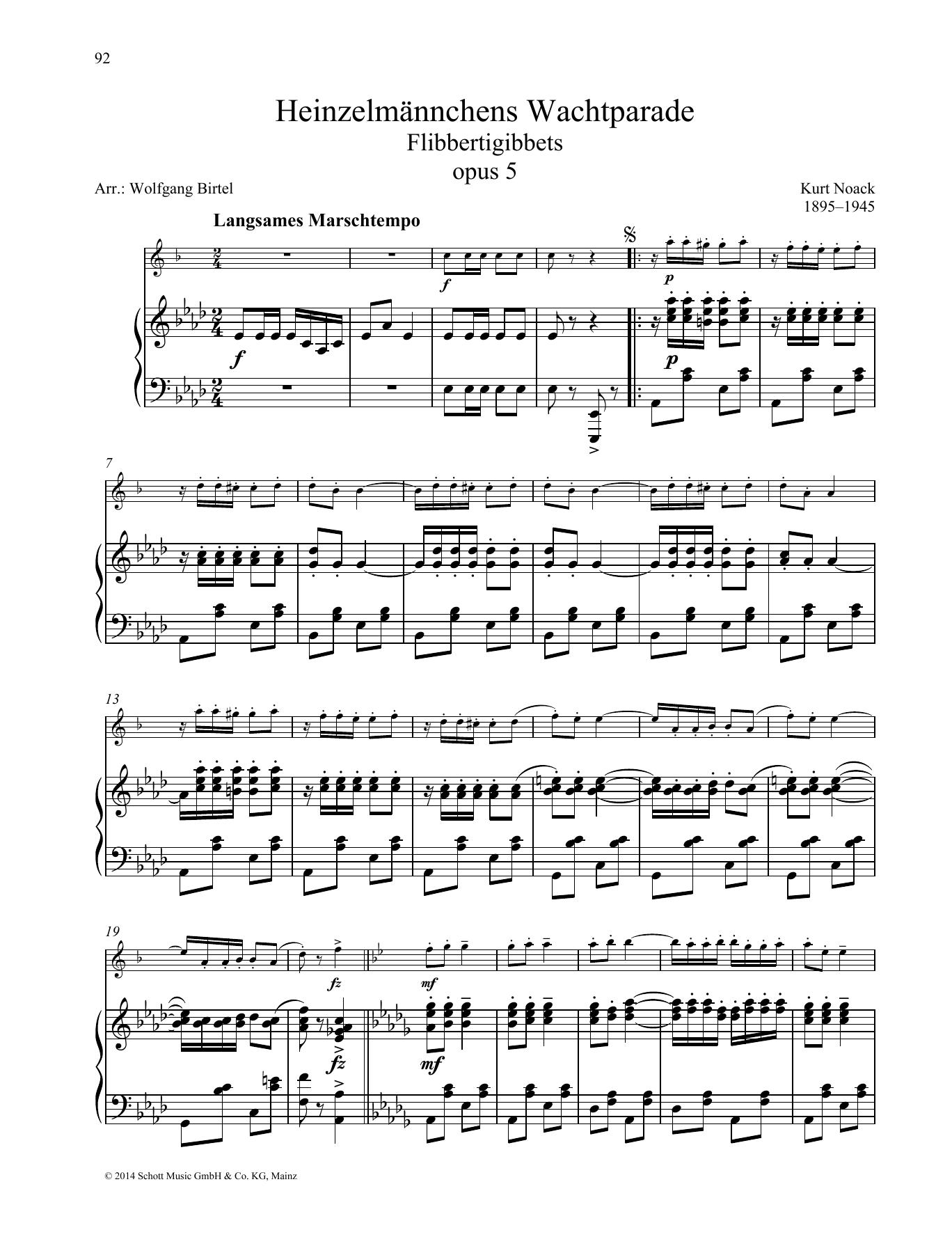 Flibbertigibbets Sheet Music