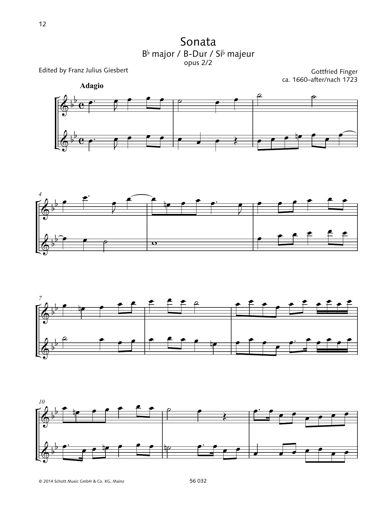 Sonata B-flat major Sheet Music