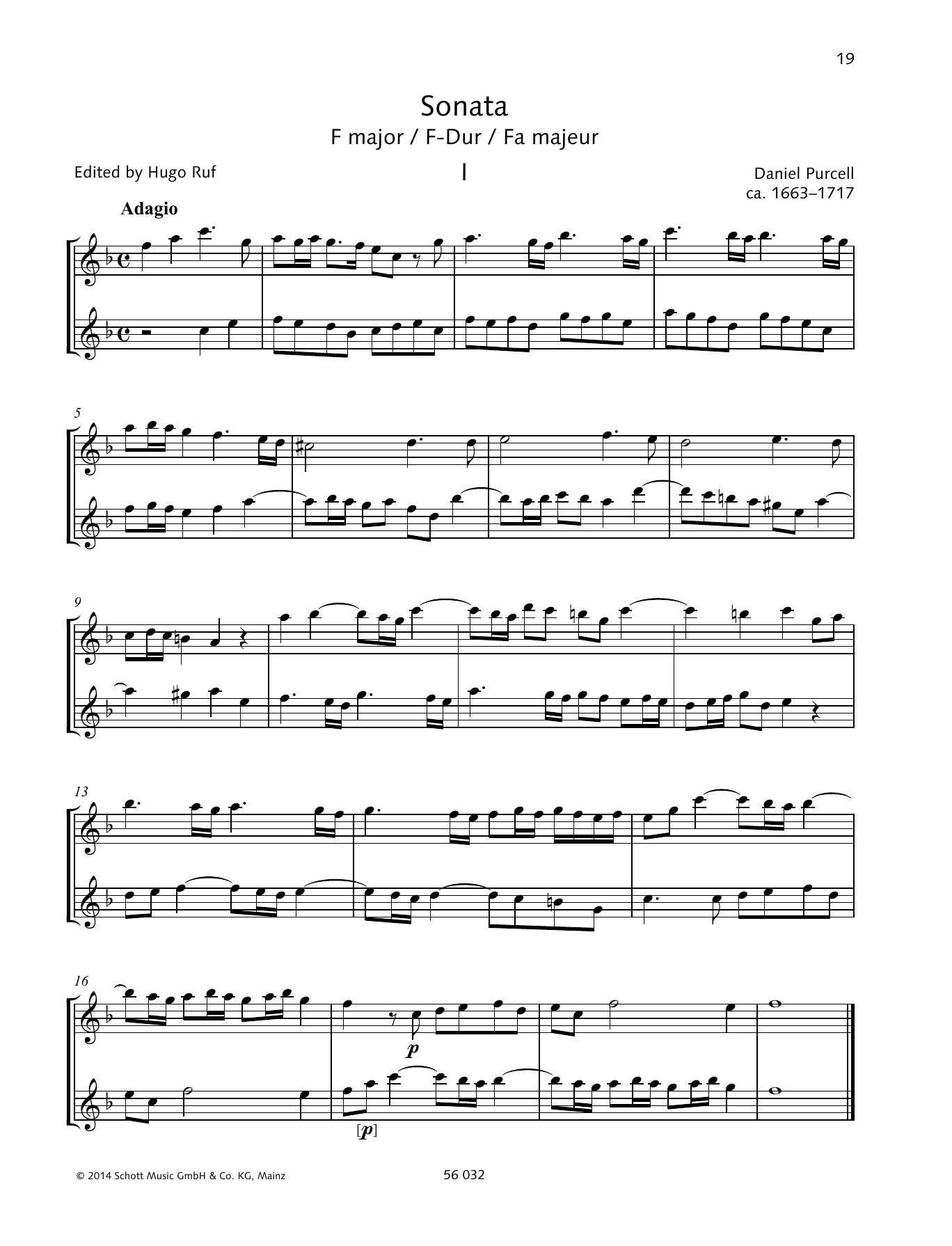 Sonata F Major Sheet Music