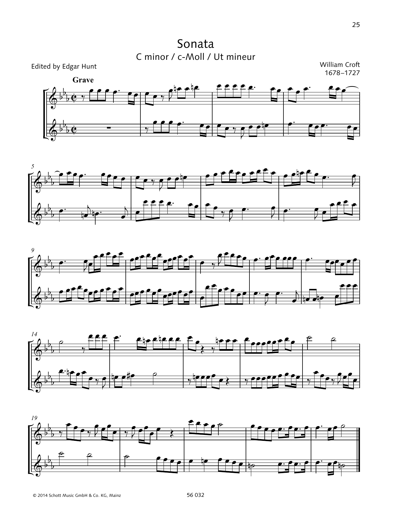 Sonata C minor Sheet Music