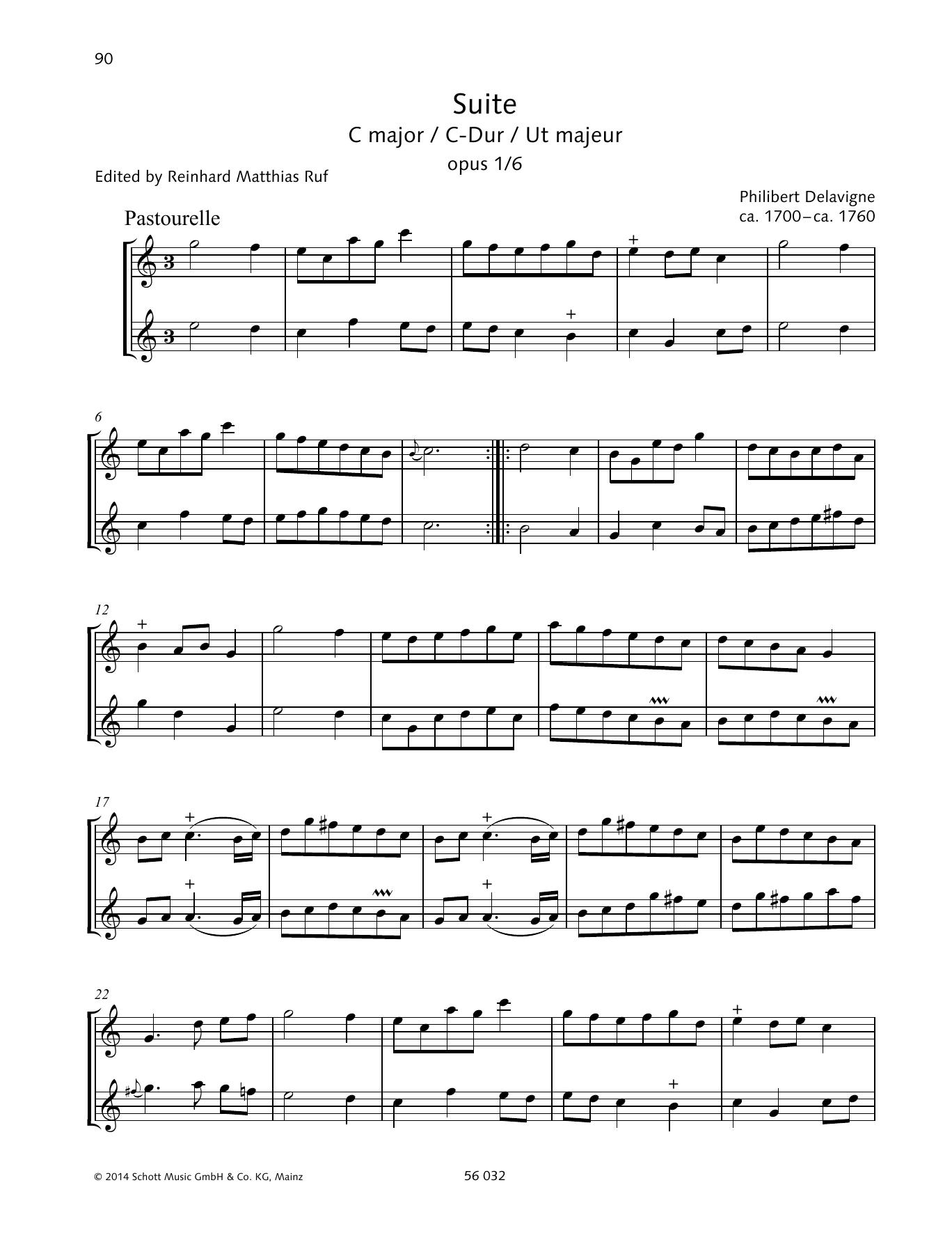 Suite C Major Sheet Music