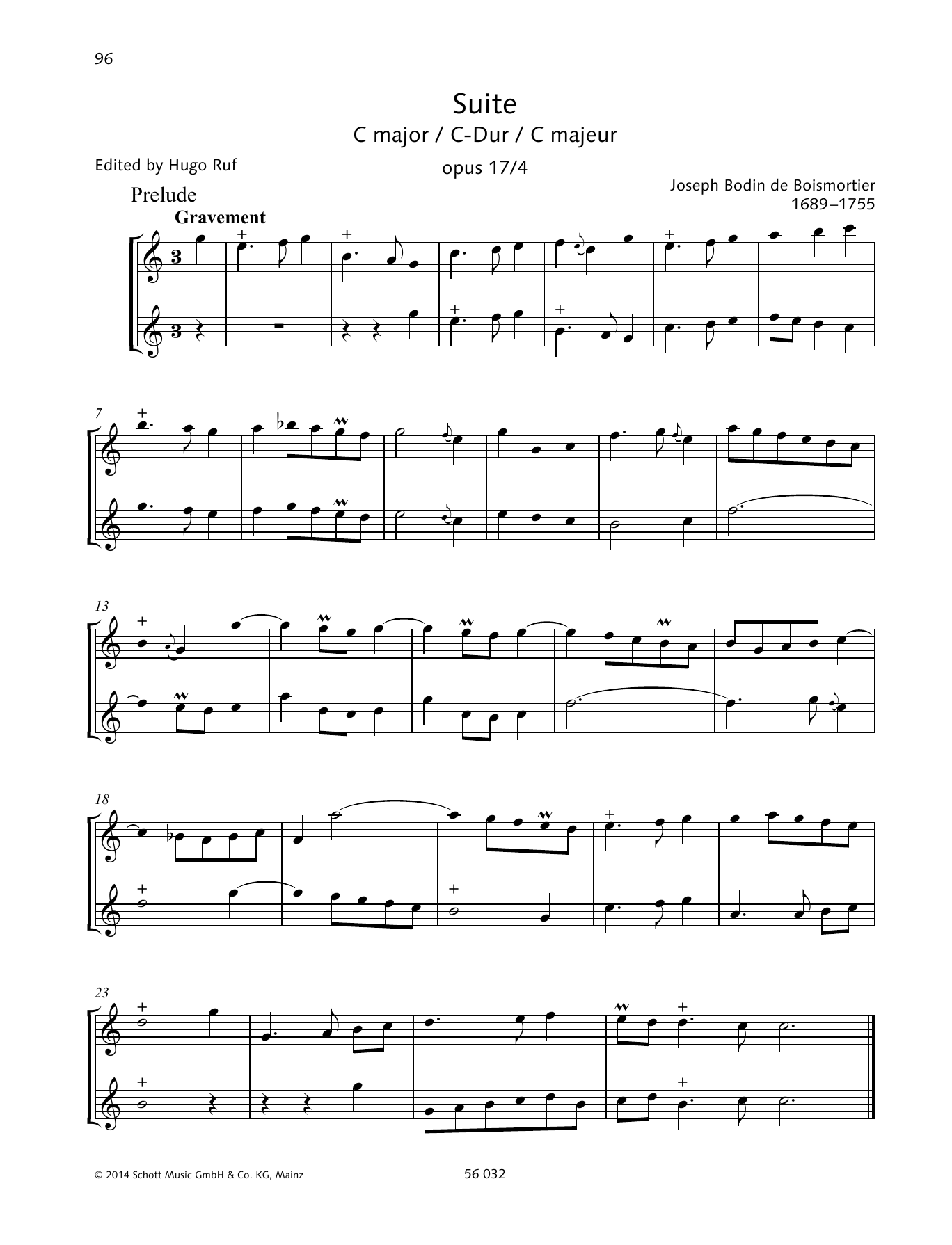 Suite C Major Sheet Music