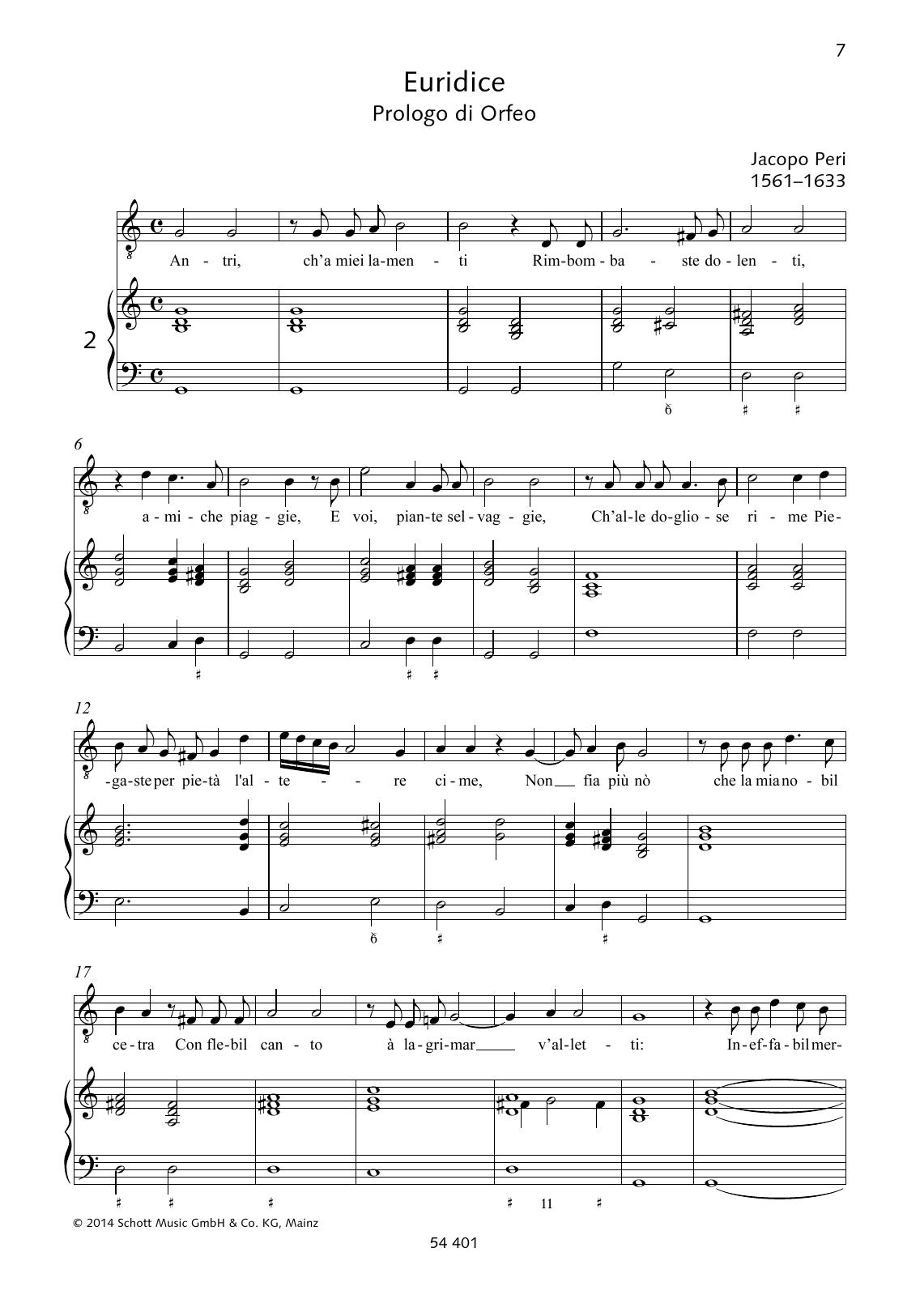 Antri, ch'a miei lamenti Rimbombaste dolenti Sheet Music