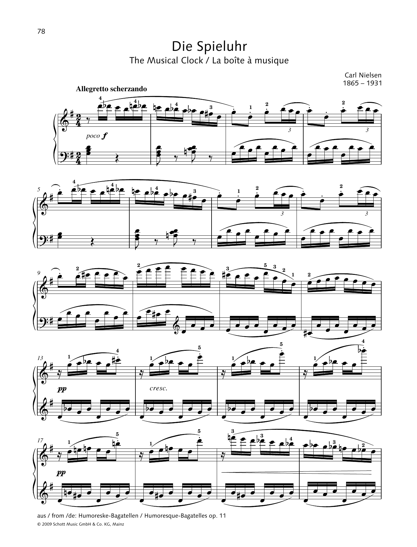 The Musical Clock Sheet Music