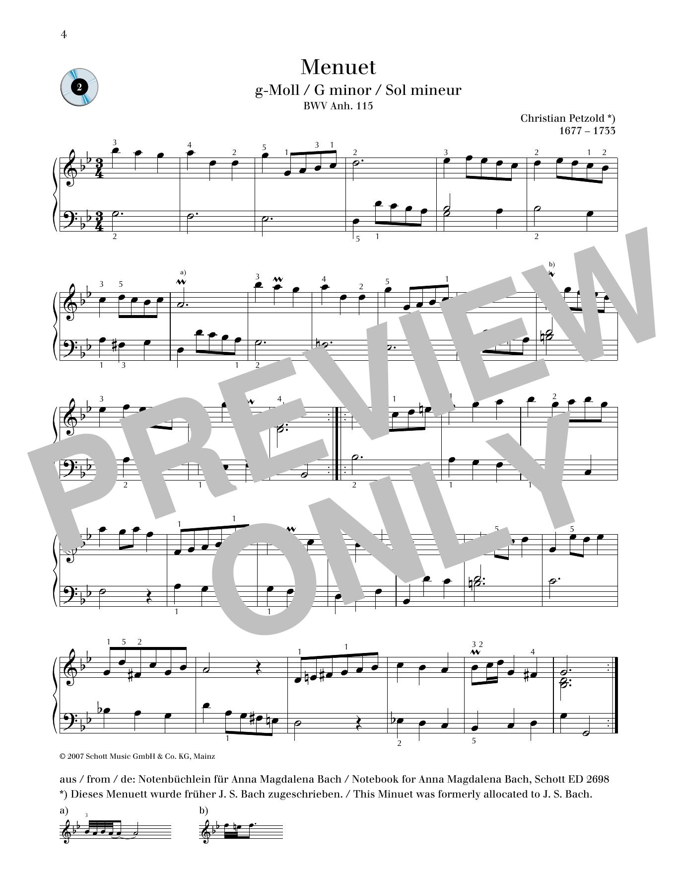 Minuet G minor Sheet Music