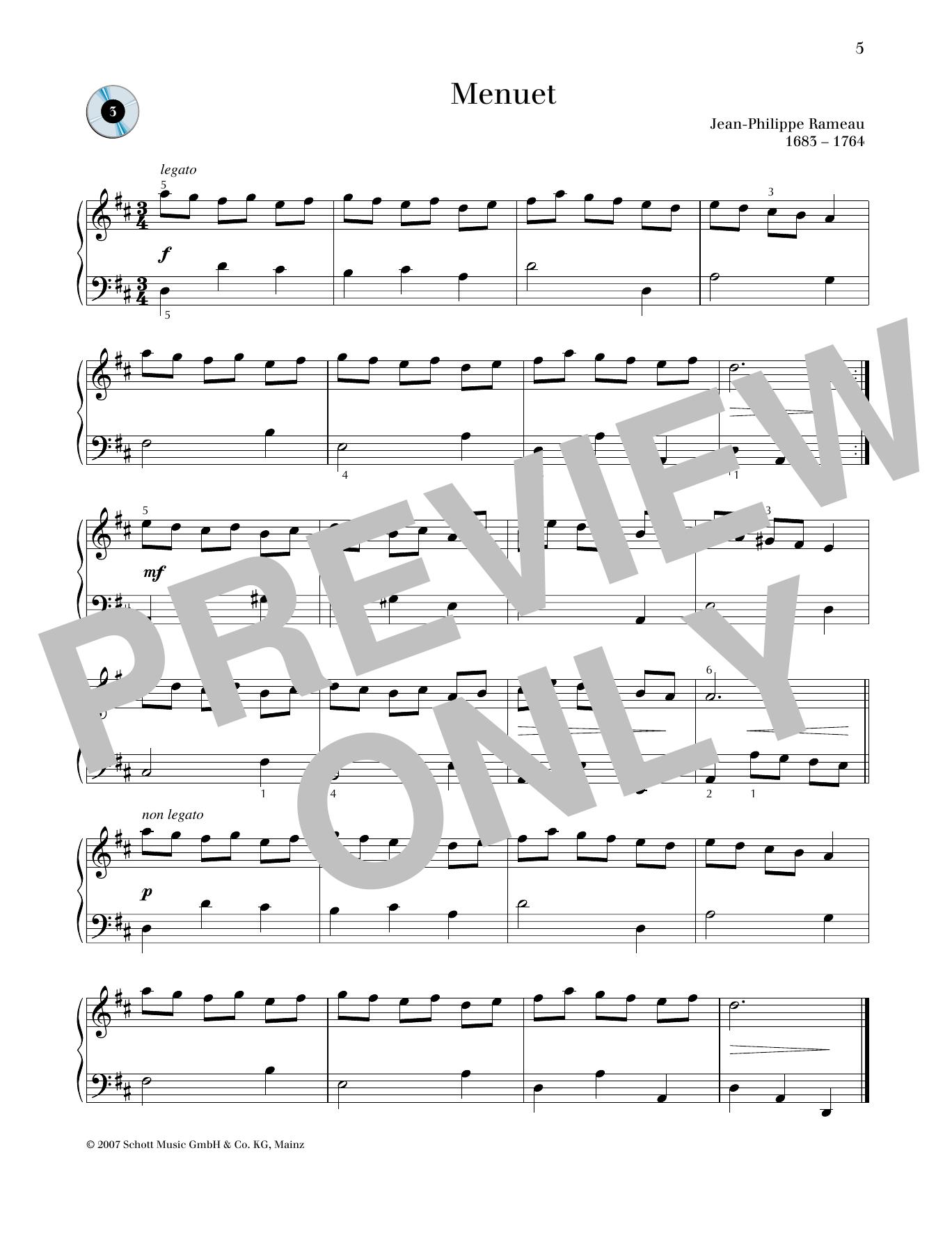 Minuet D major Sheet Music