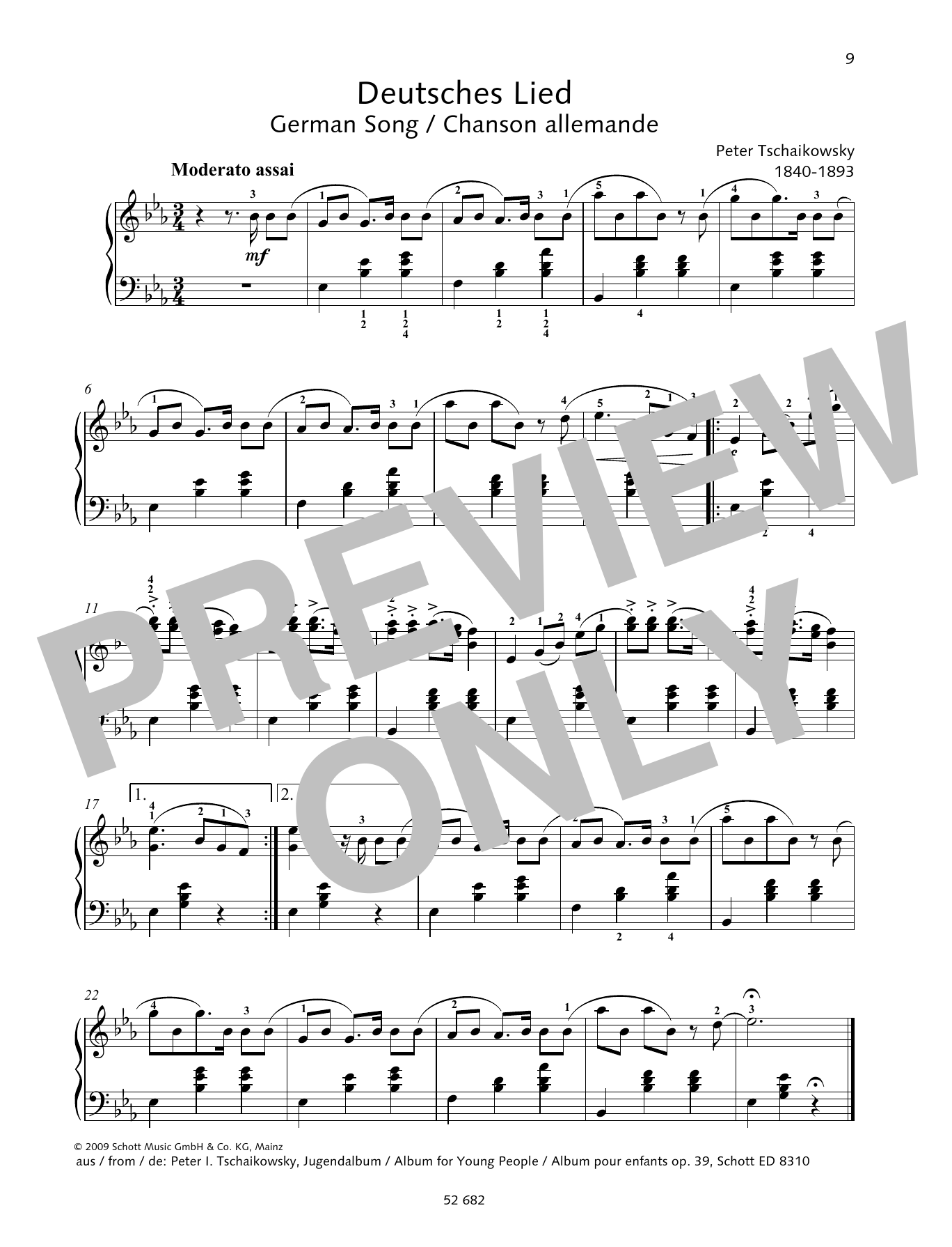 German Song Sheet Music