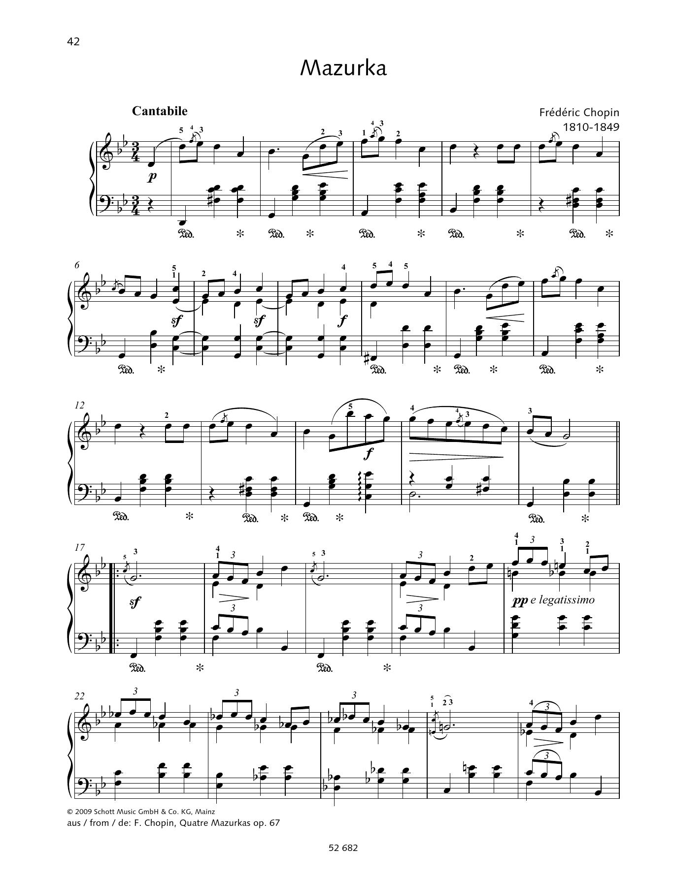 Mazurka in G minor Sheet Music