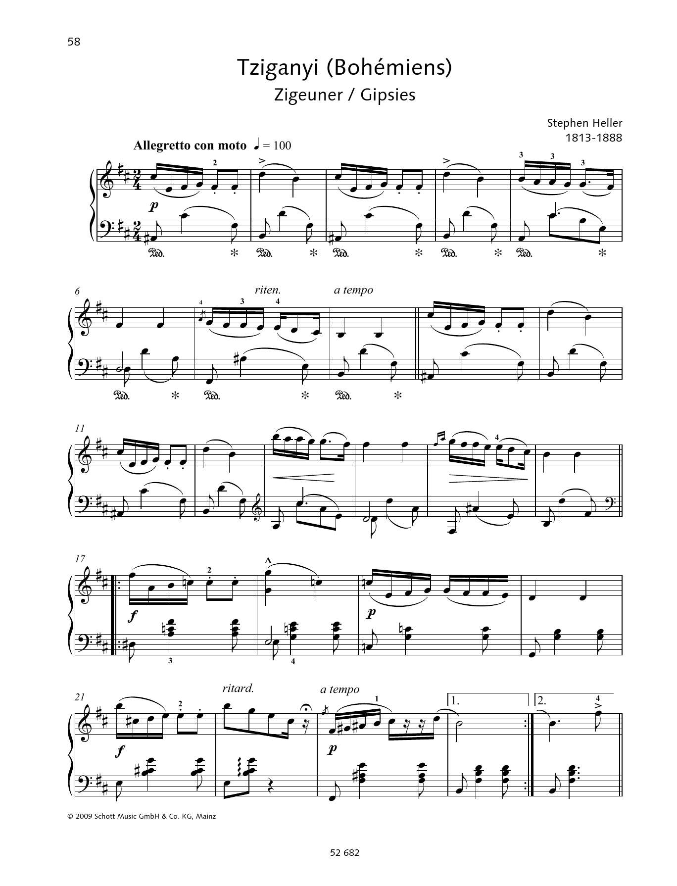 Gipsies Bohémiens Sheet Music
