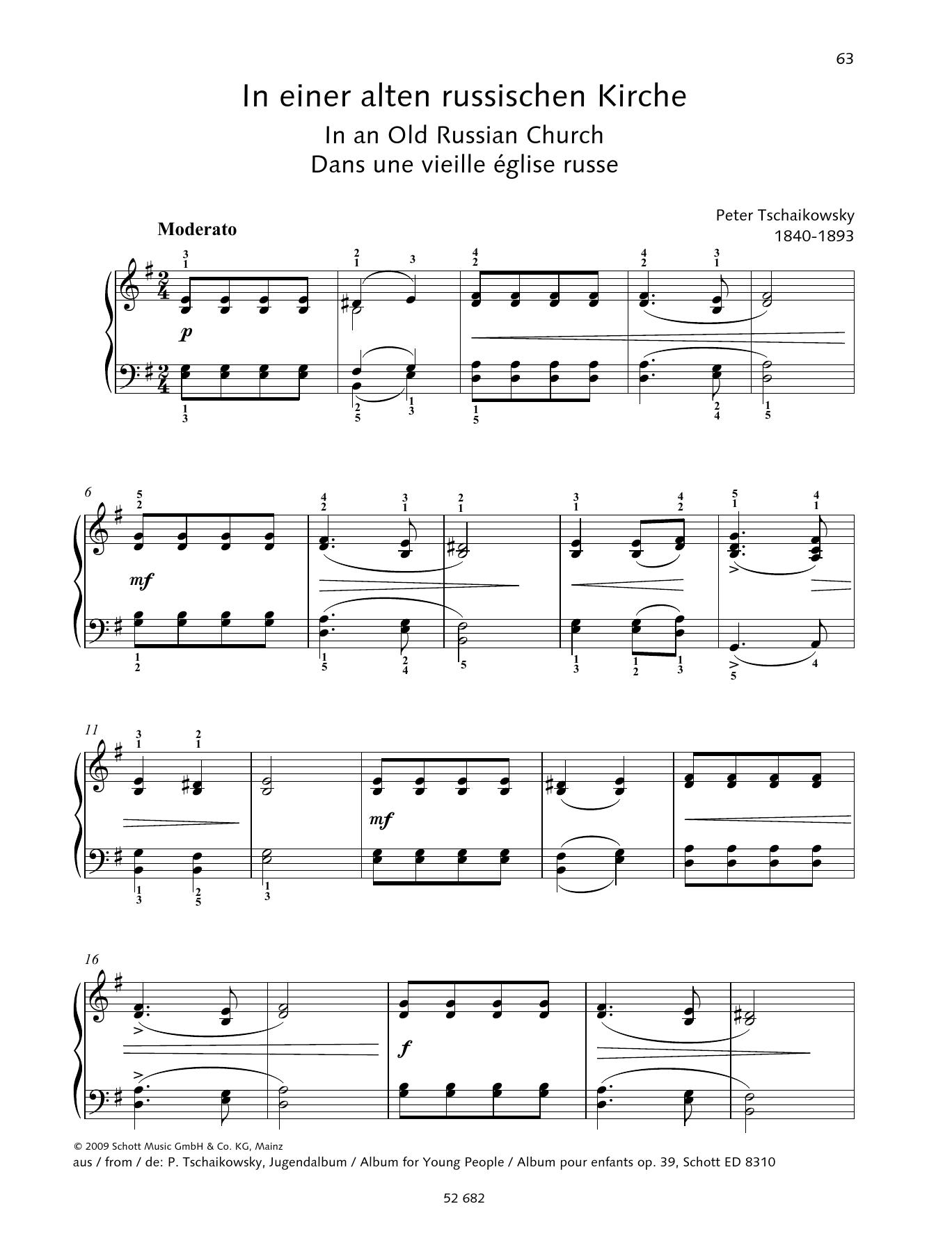 In an Old Russian Church Sheet Music