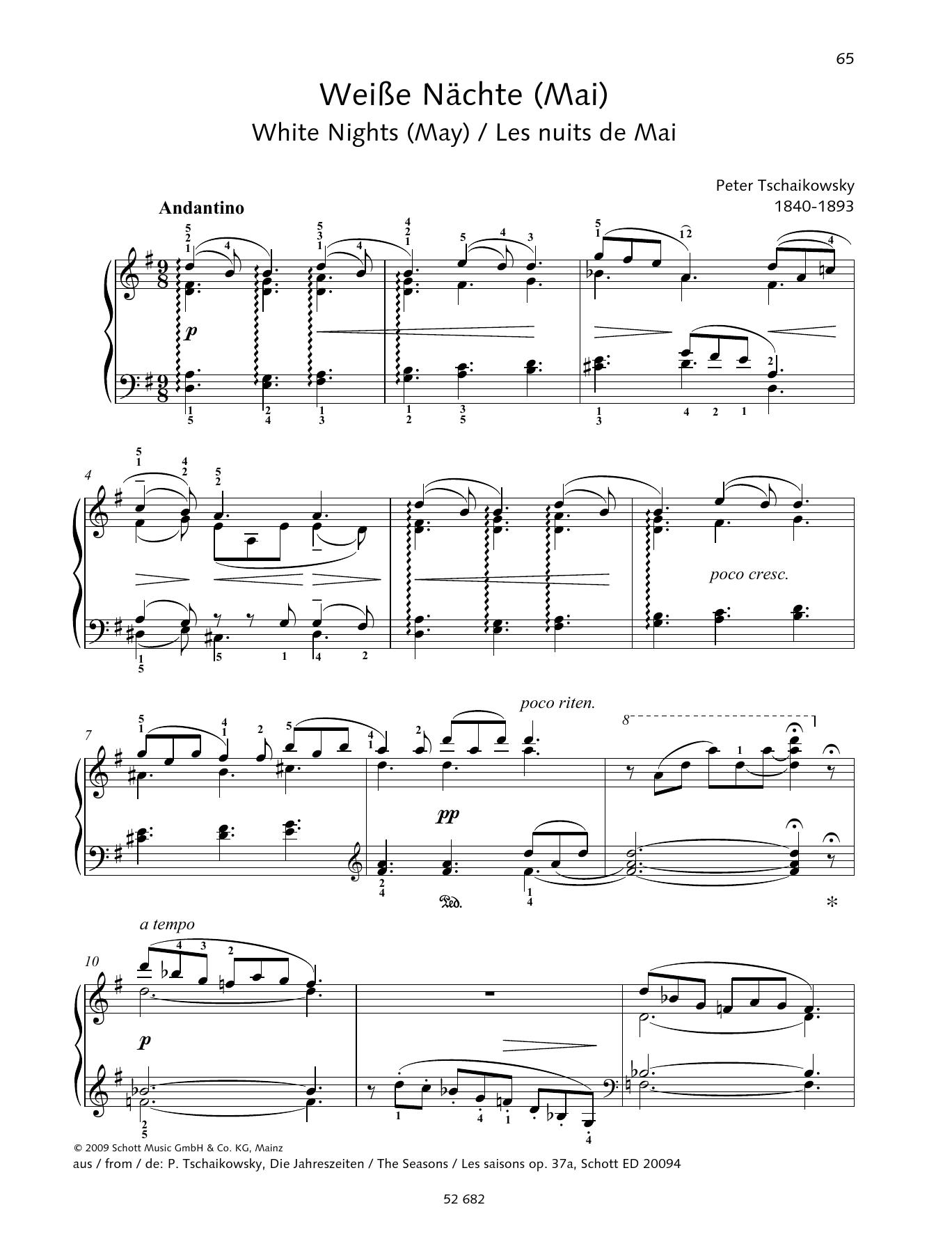 White Nights (May) Sheet Music
