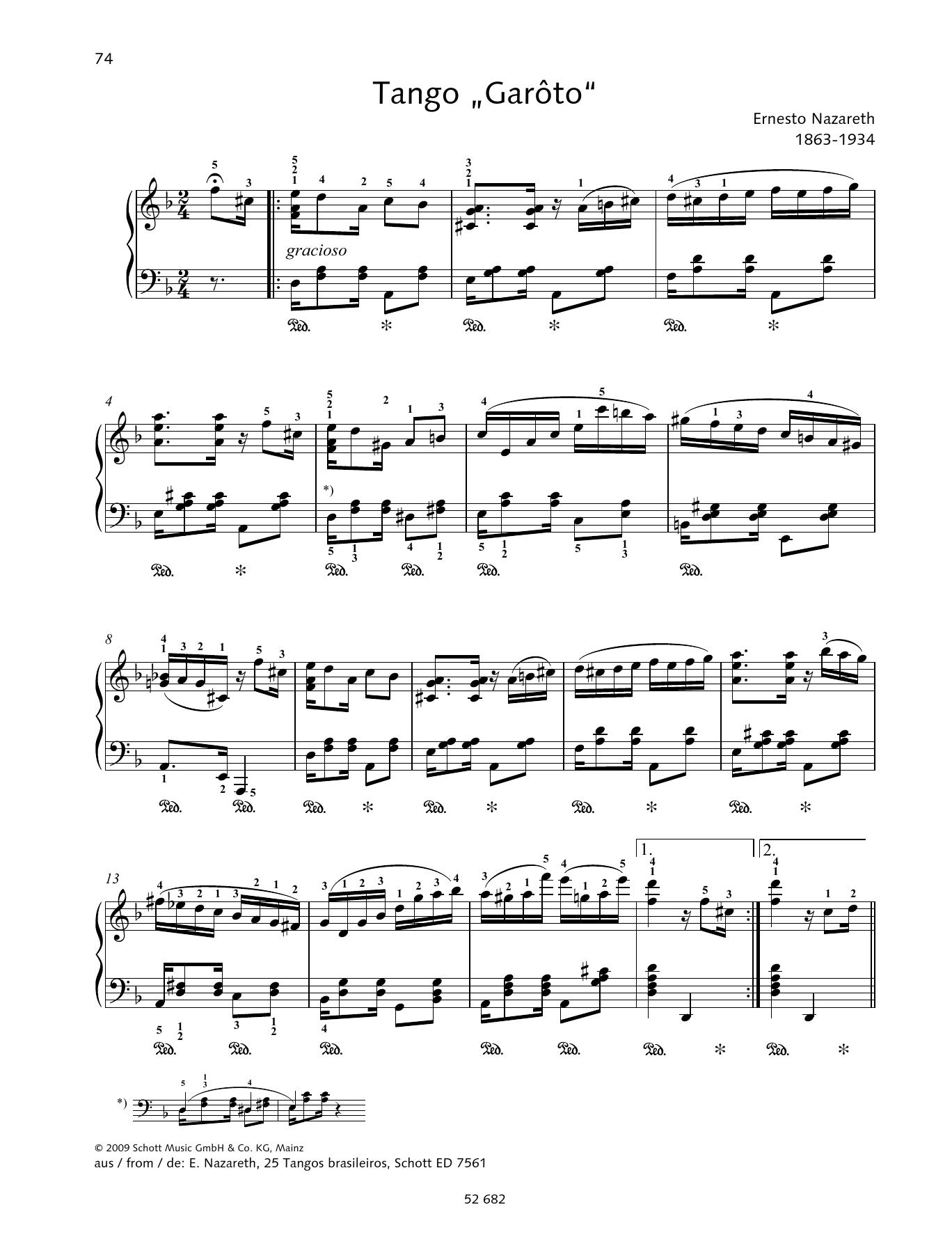 Tango Garôto Sheet Music