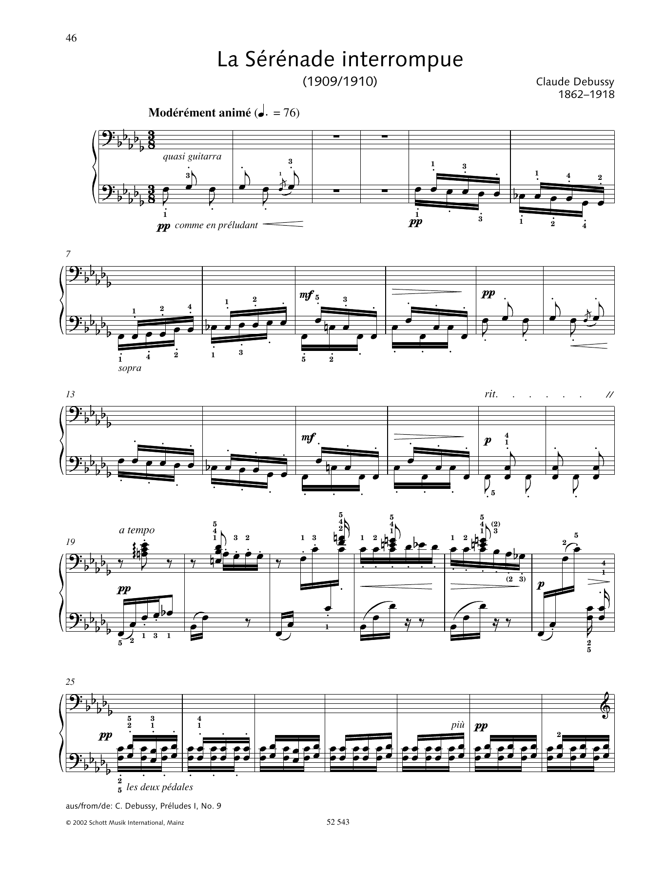 La Serenade Interrompue Sheet Music