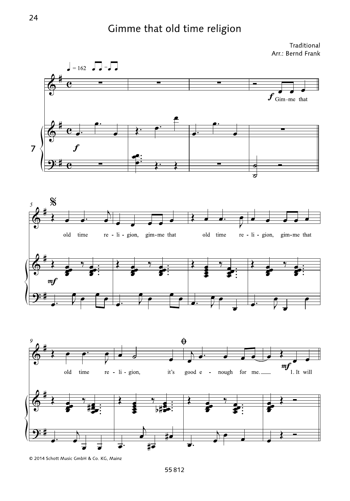 Gimme that old time religion Sheet Music