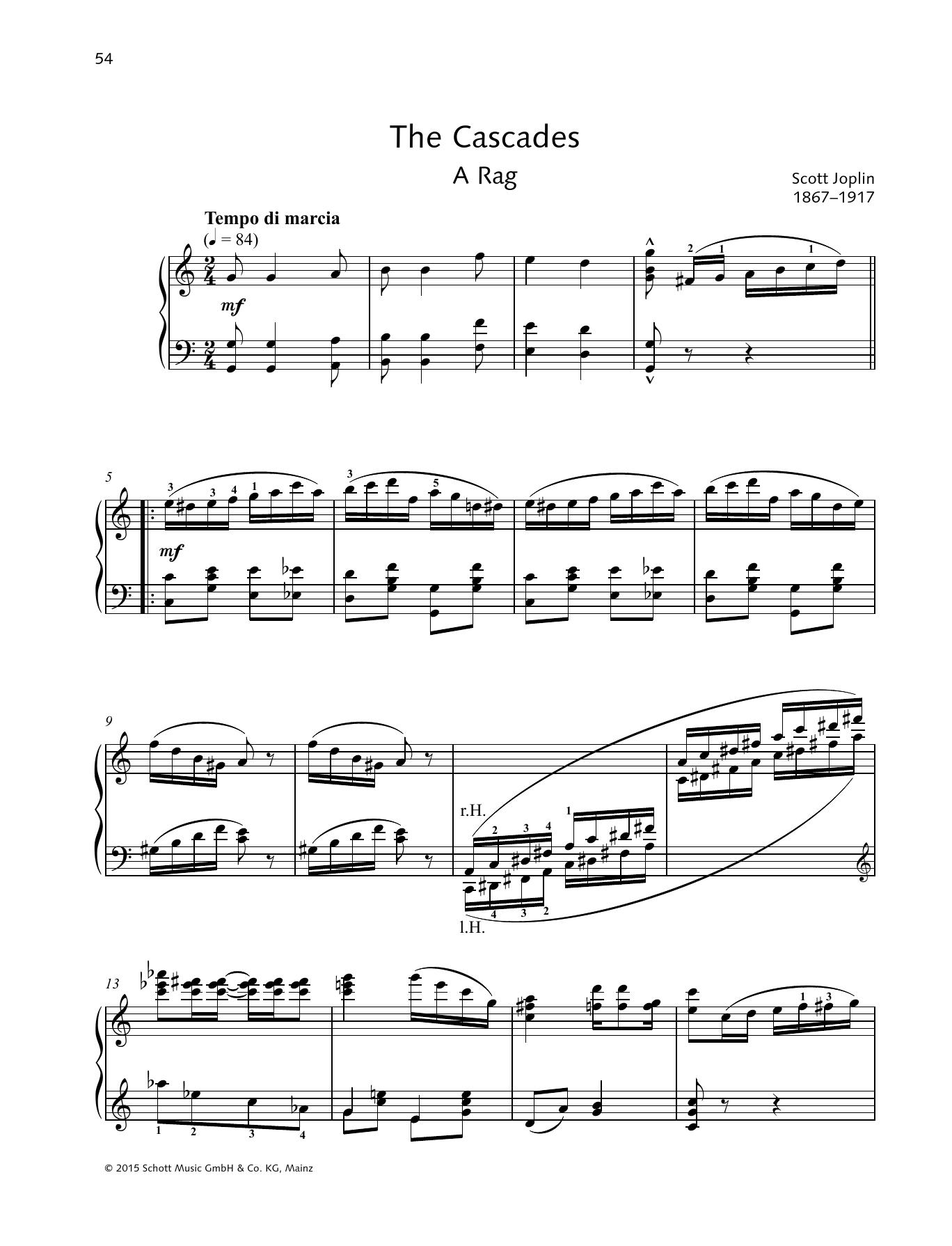 The Cascades Sheet Music