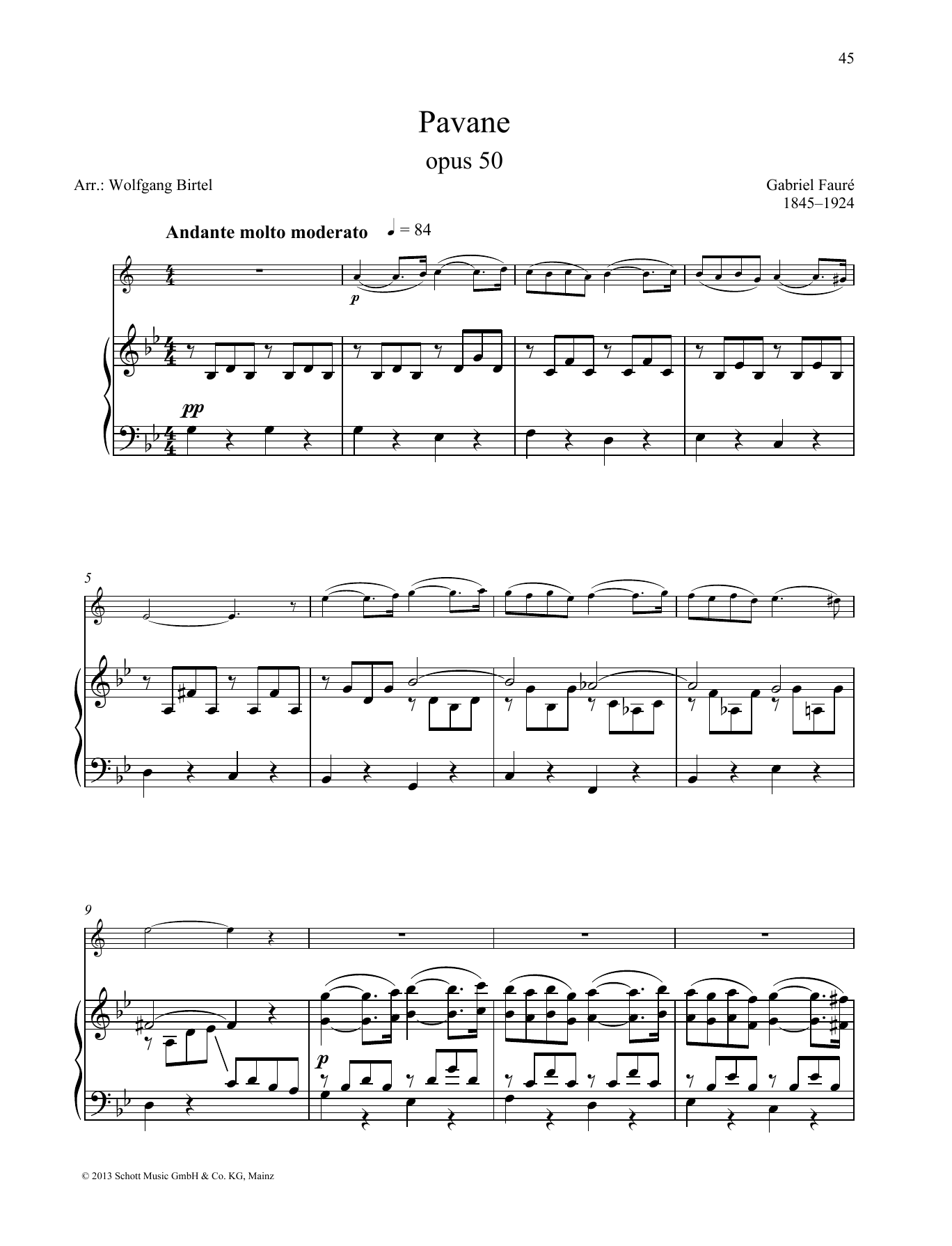 Pavane Sheet Music