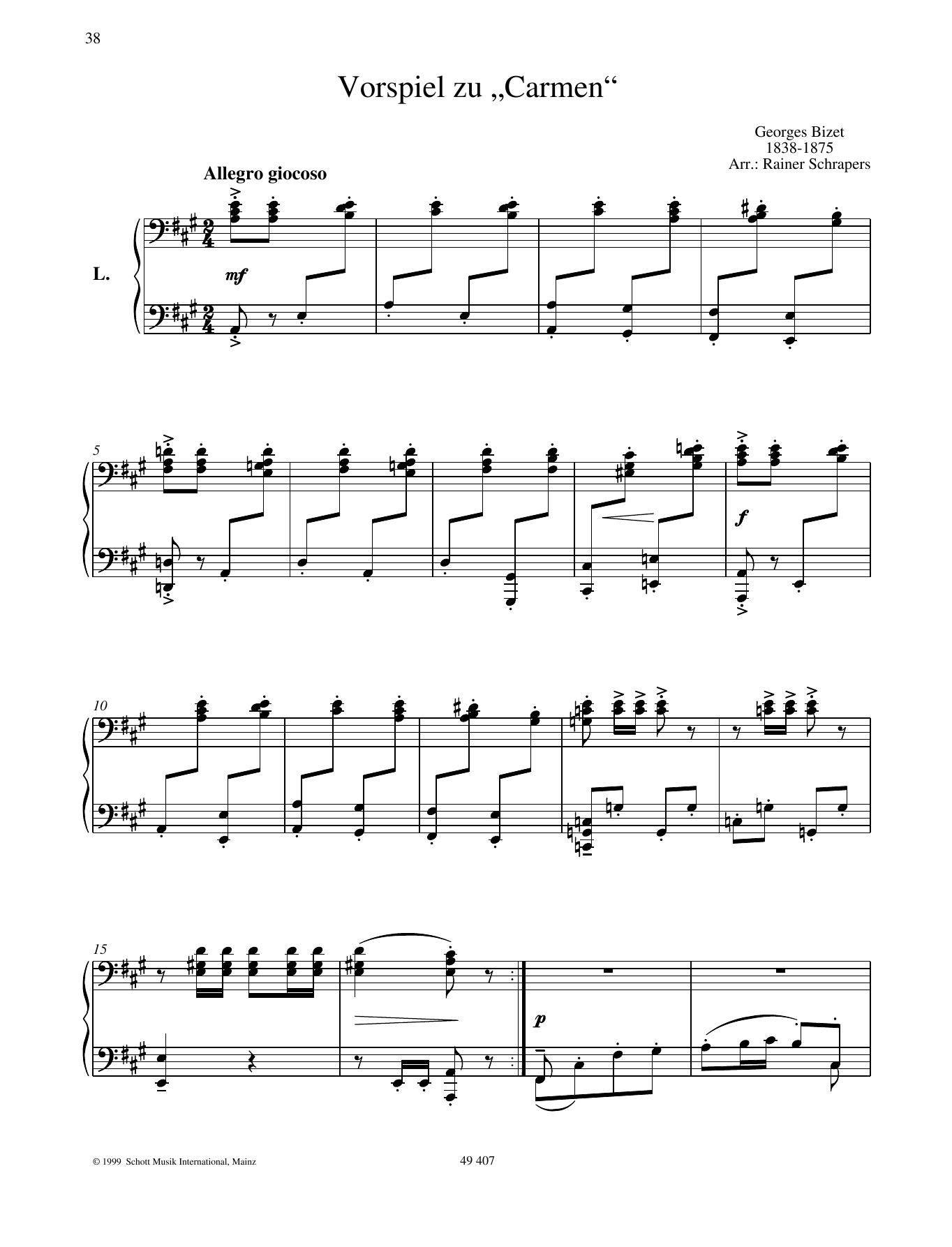 "Prelude ""Carmen"" Sheet Music"