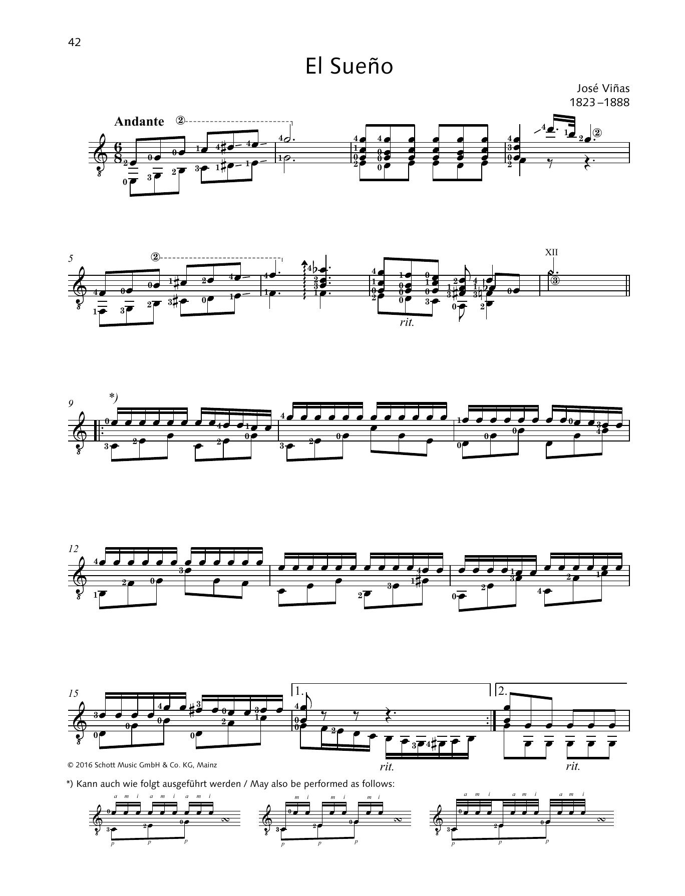 El Sueño Sheet Music