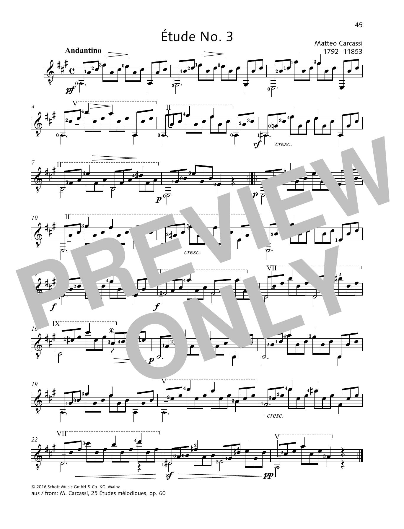 Étude No. 3 Sheet Music