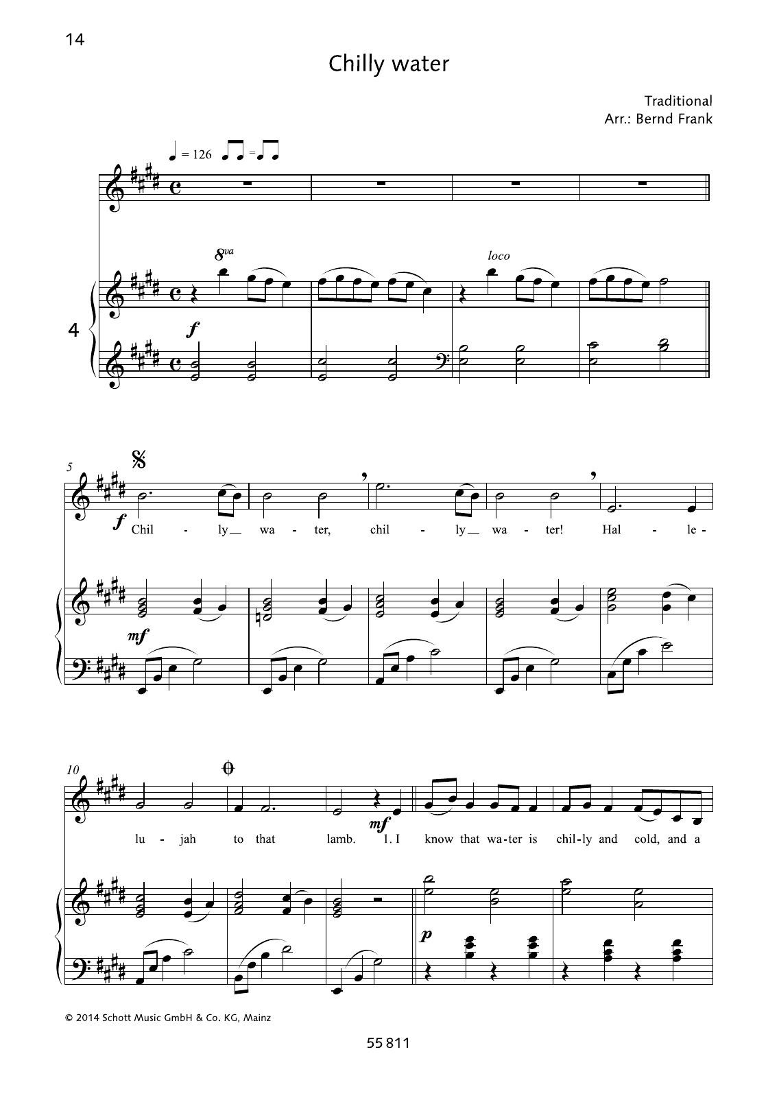Chilly Water Sheet Music