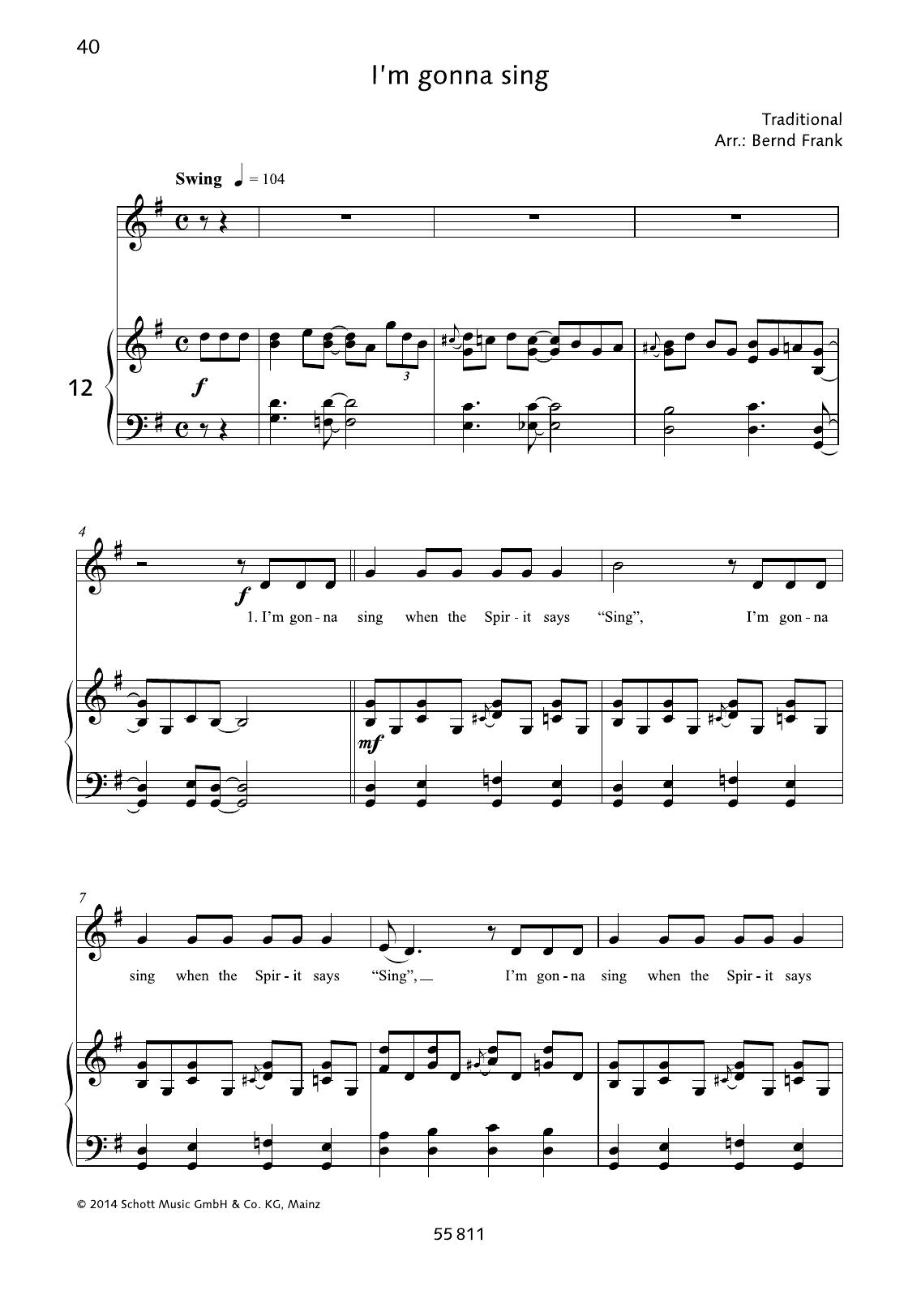 I'm Gonna Sing Sheet Music