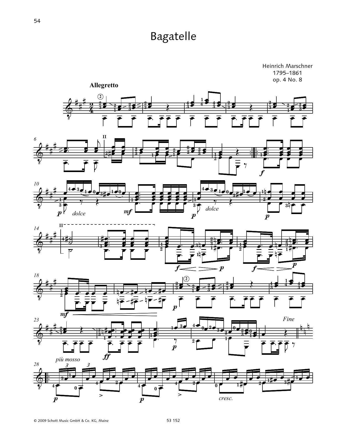 Bagatelle Sheet Music