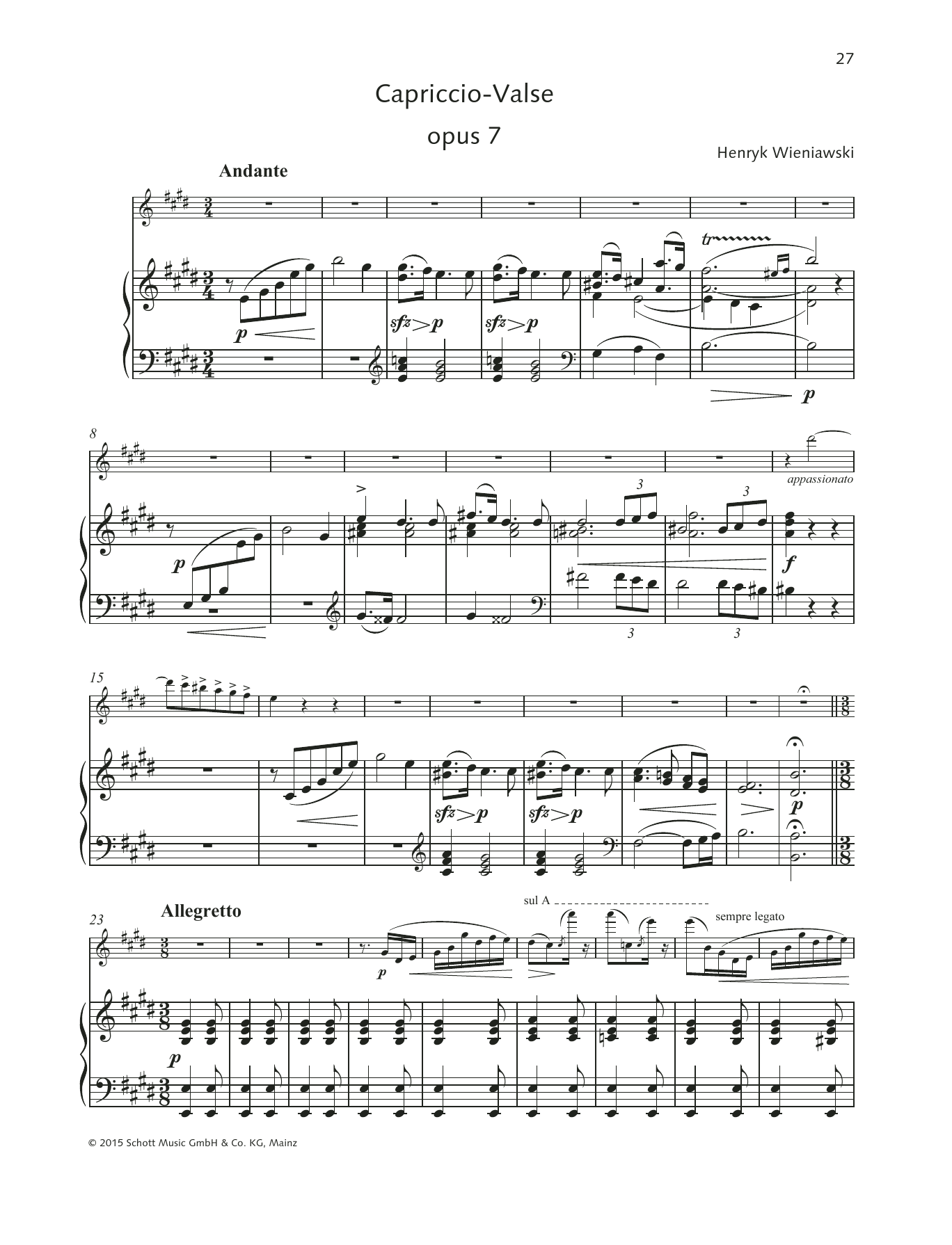 Capriccio-Valse Sheet Music