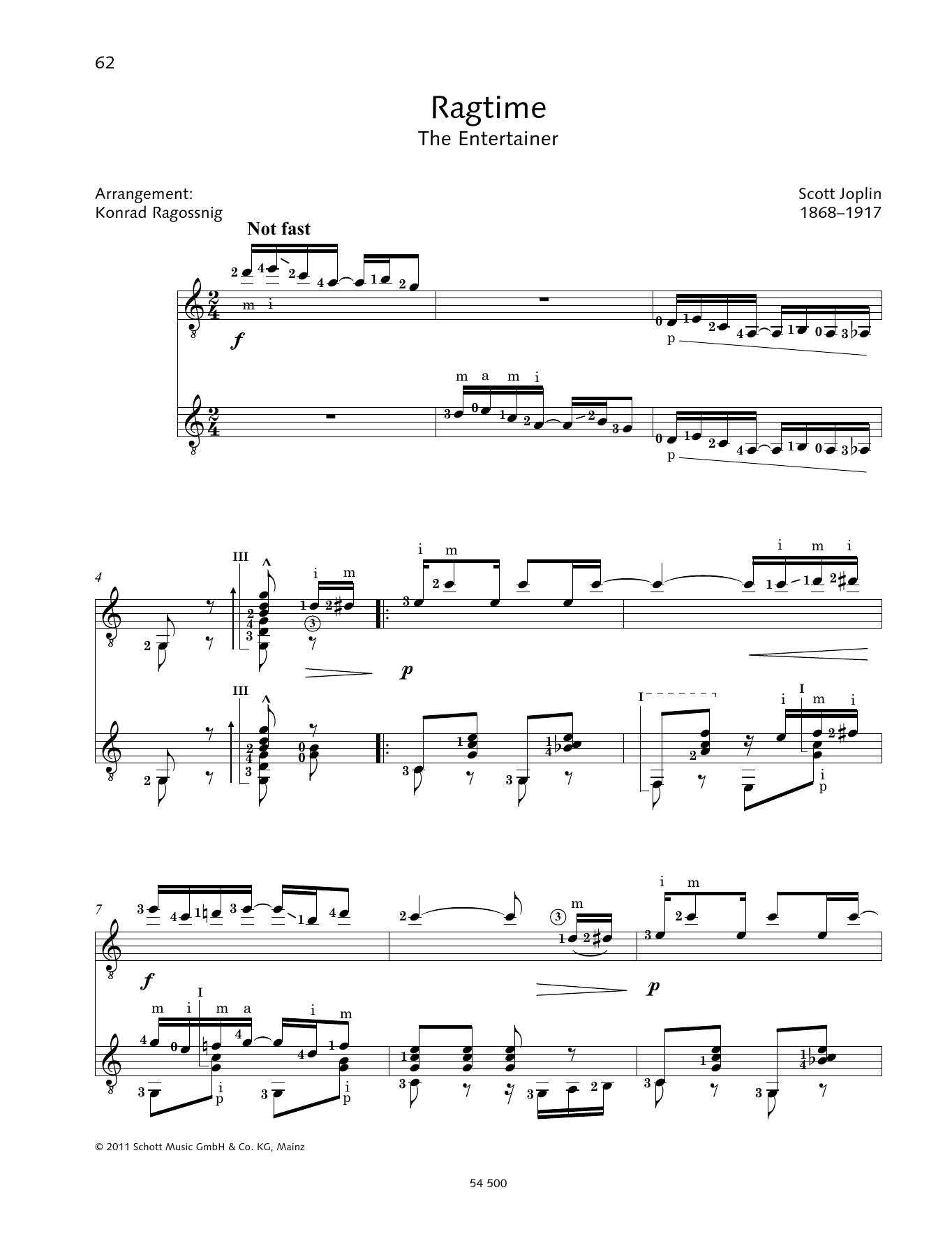 Ragtime - Full Score Sheet Music