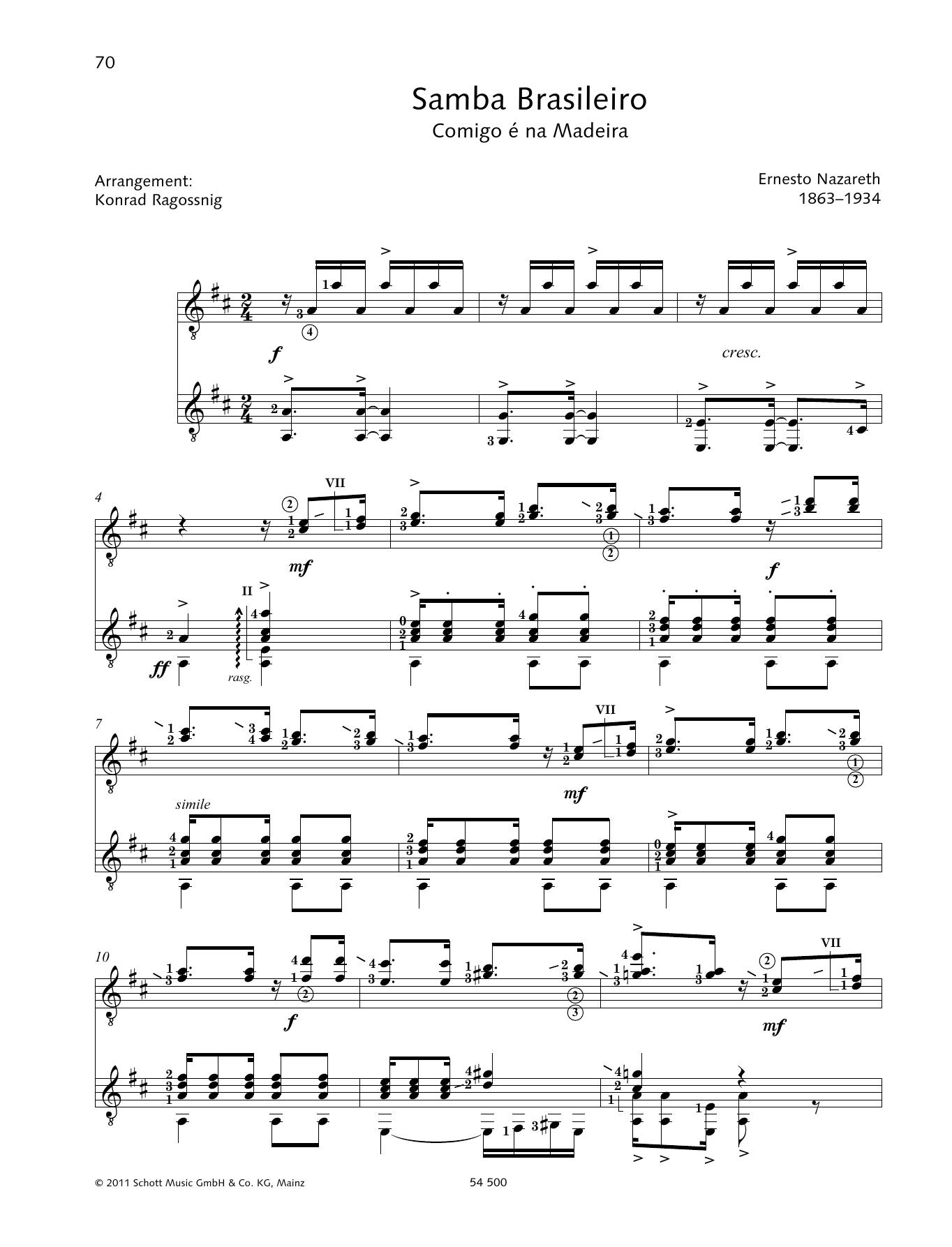 Samba Brasileiro - Full Score Sheet Music