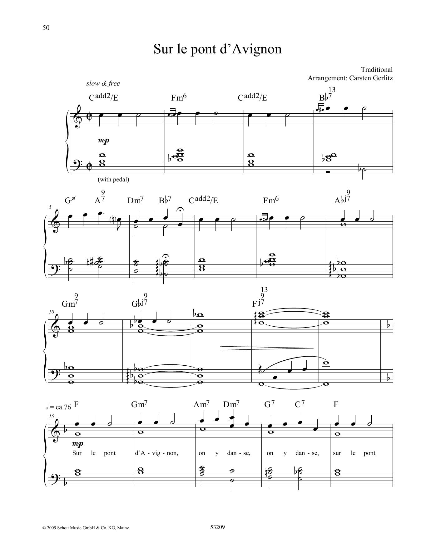 Sur Le Pont D'avignon Sheet Music