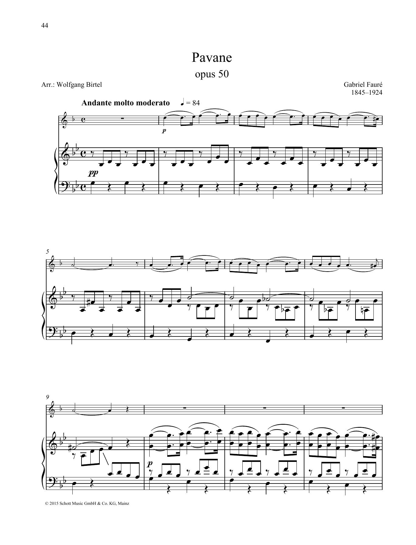 Pavane Sheet Music