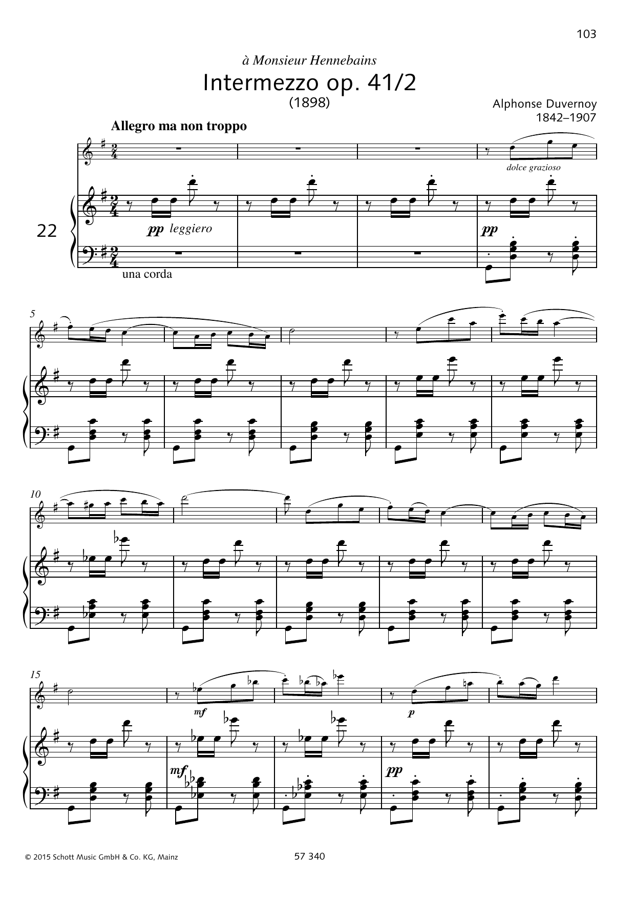 Intermezzo Sheet Music