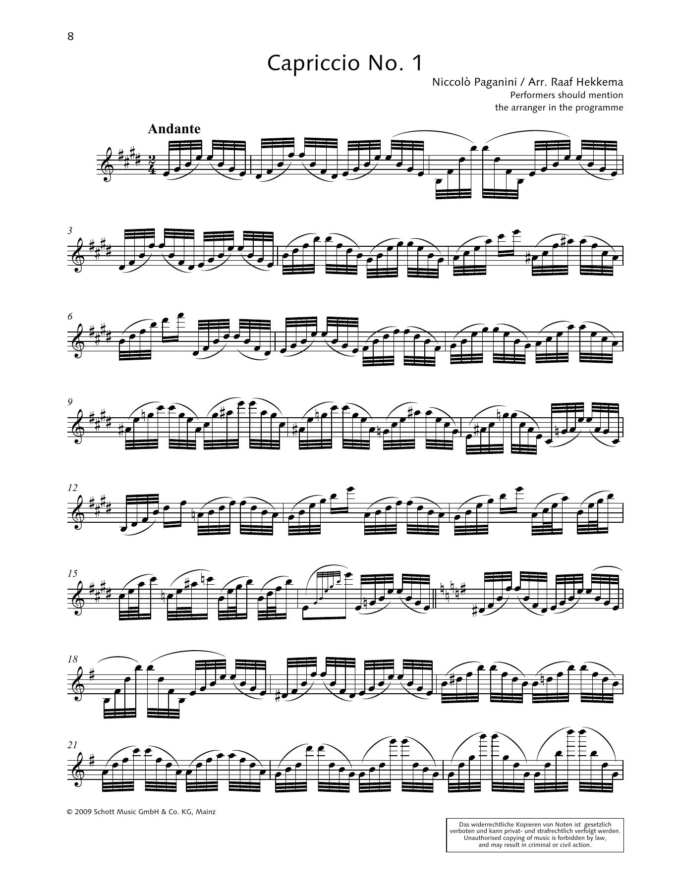 Capriccio No. 1 Sheet Music