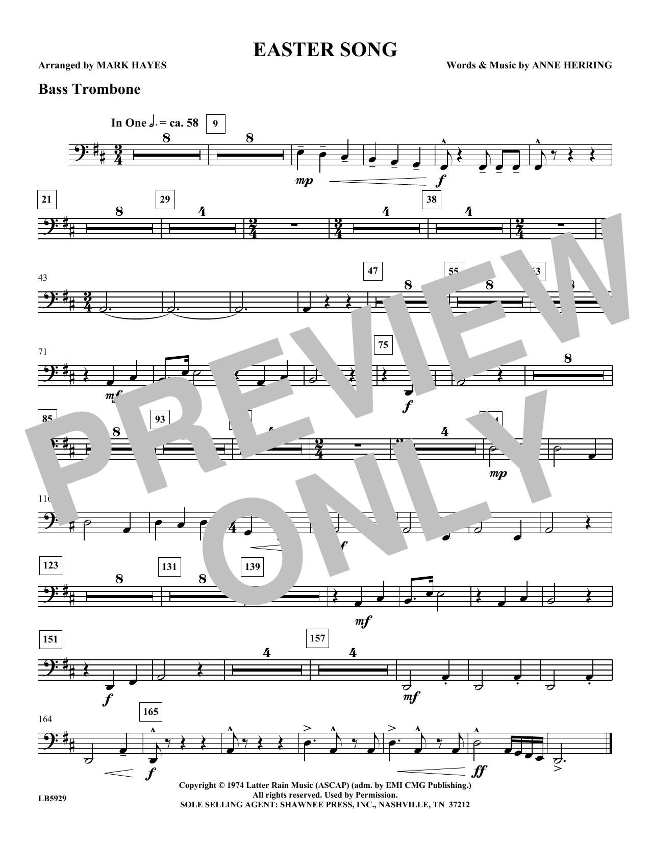 Easter Song - Bass Trombone Sheet Music