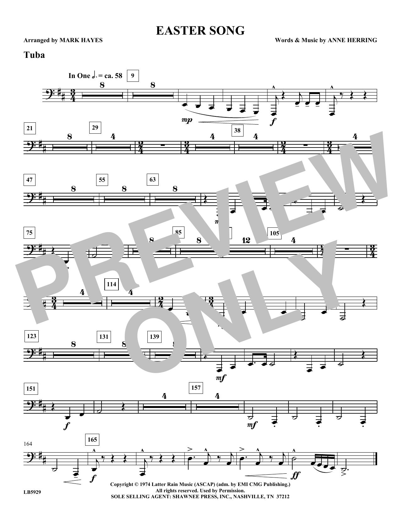 Easter Song - Tuba Sheet Music
