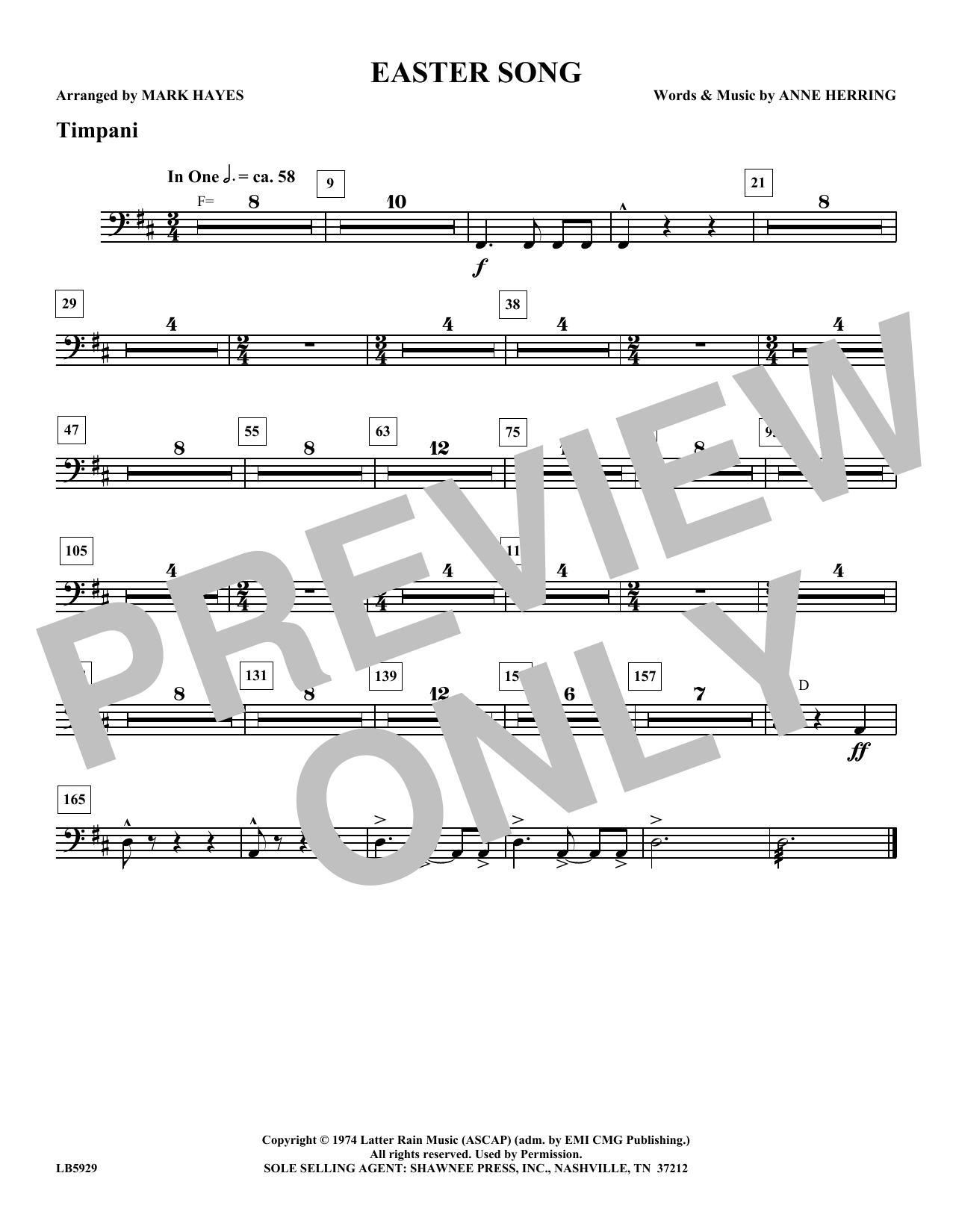 Easter Song - Timpani Sheet Music