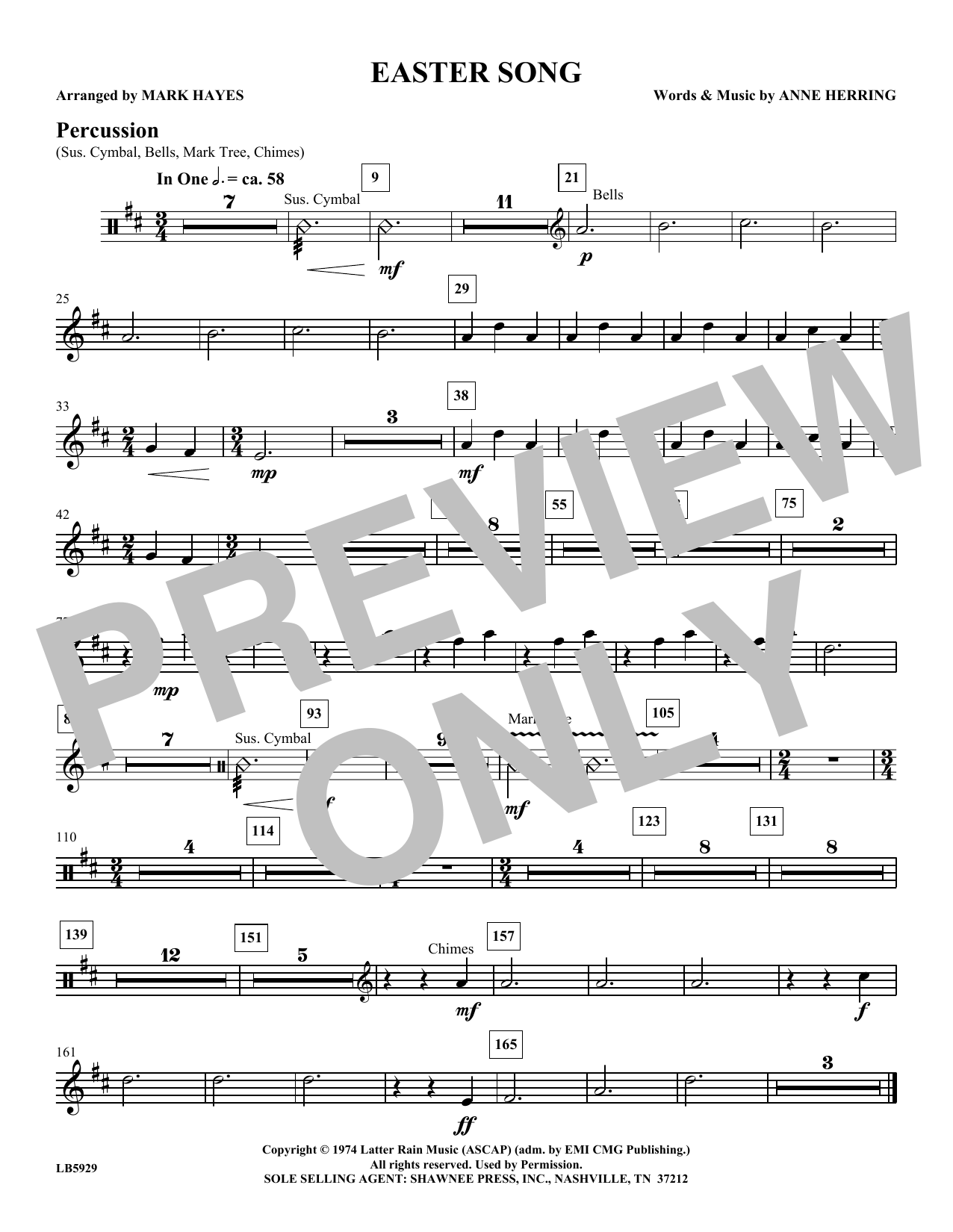 Easter Song - Percussion Sheet Music