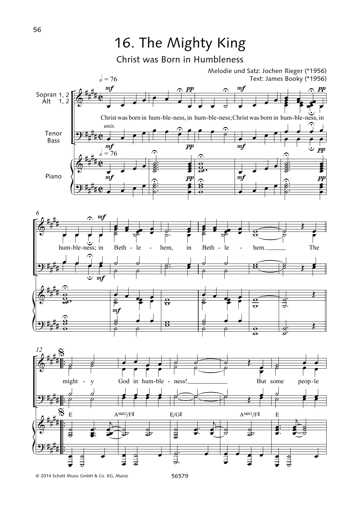 The Mighty King Sheet Music