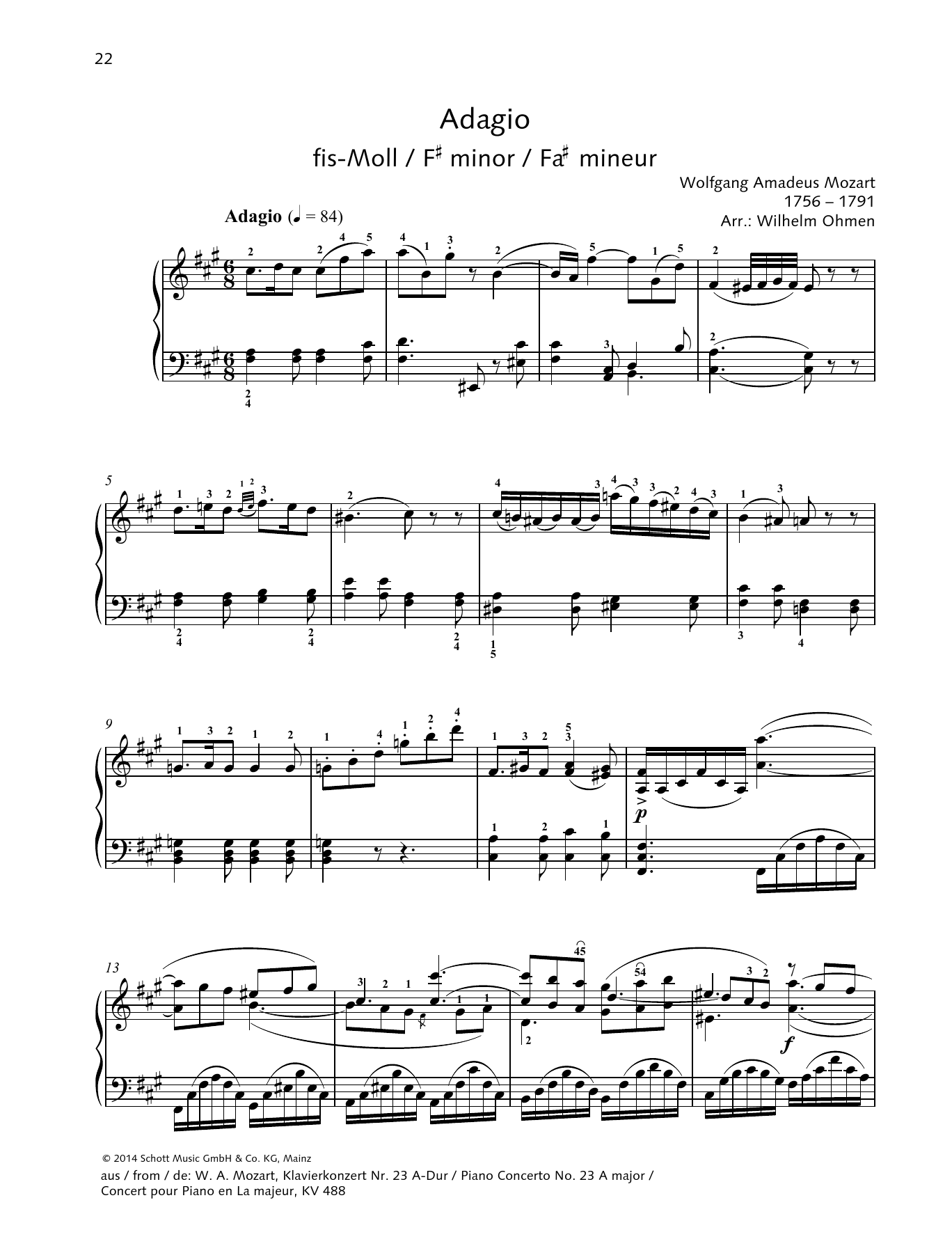 Adagio Sheet Music
