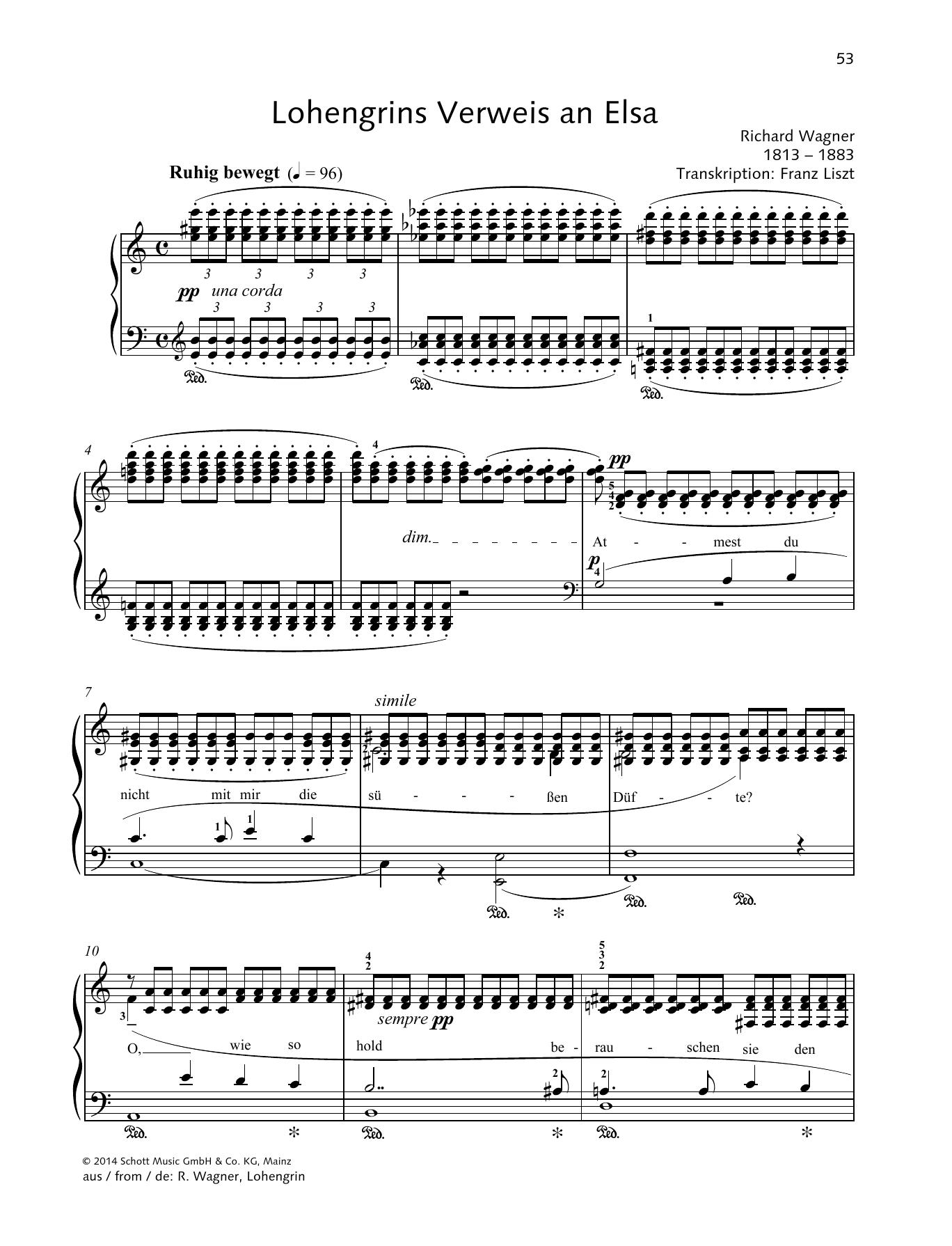 Lohengrins Verweis an Elsa Sheet Music