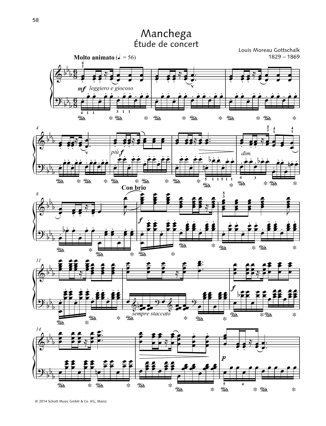 Manchega Sheet Music
