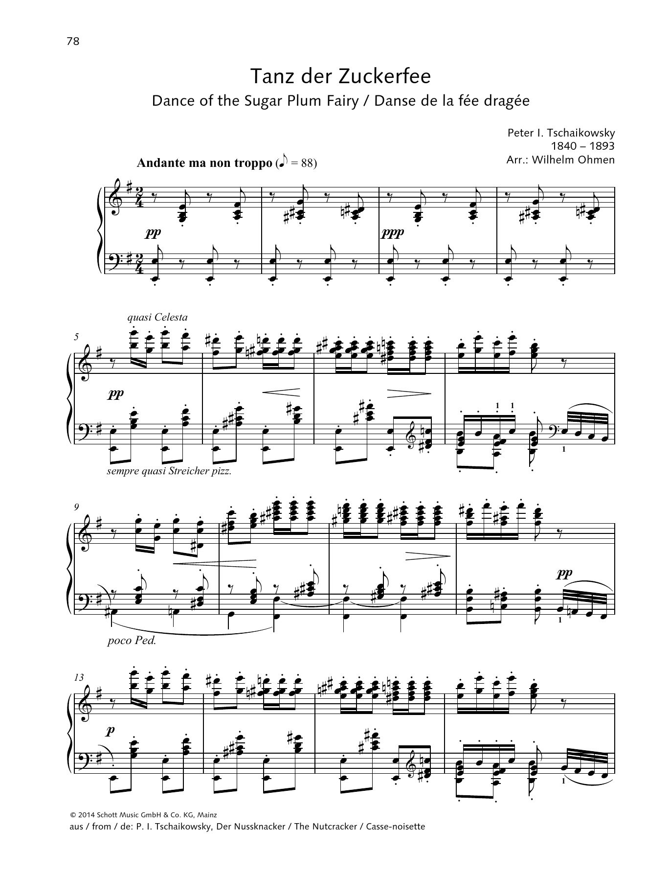 Dance Of The Sugar Plum Fairy Sheet Music